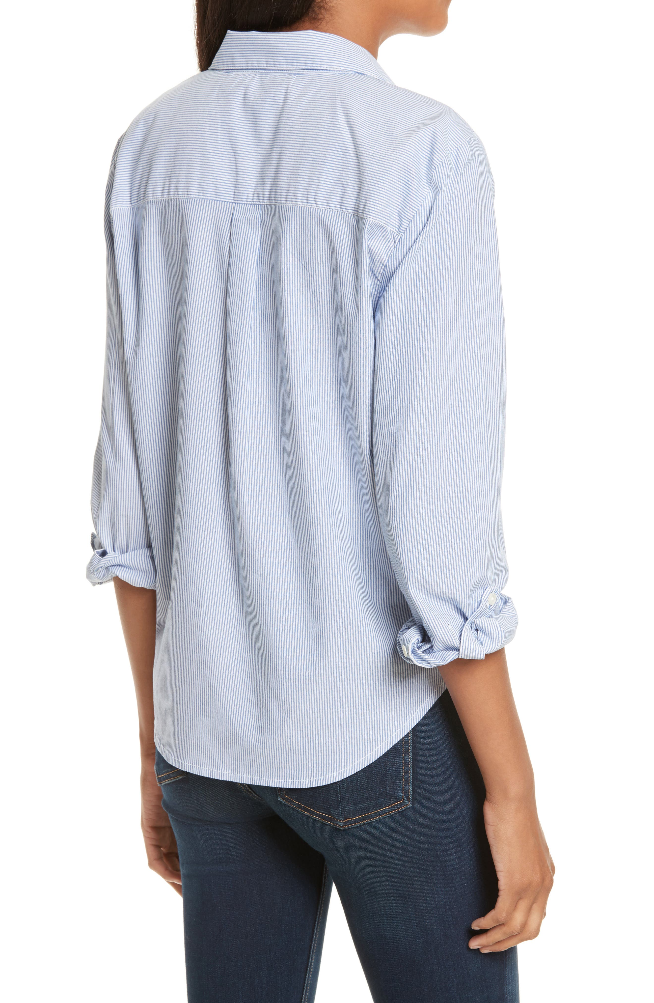 Crysta Tie Front Shirt,                             Alternate thumbnail 2, color,                             473