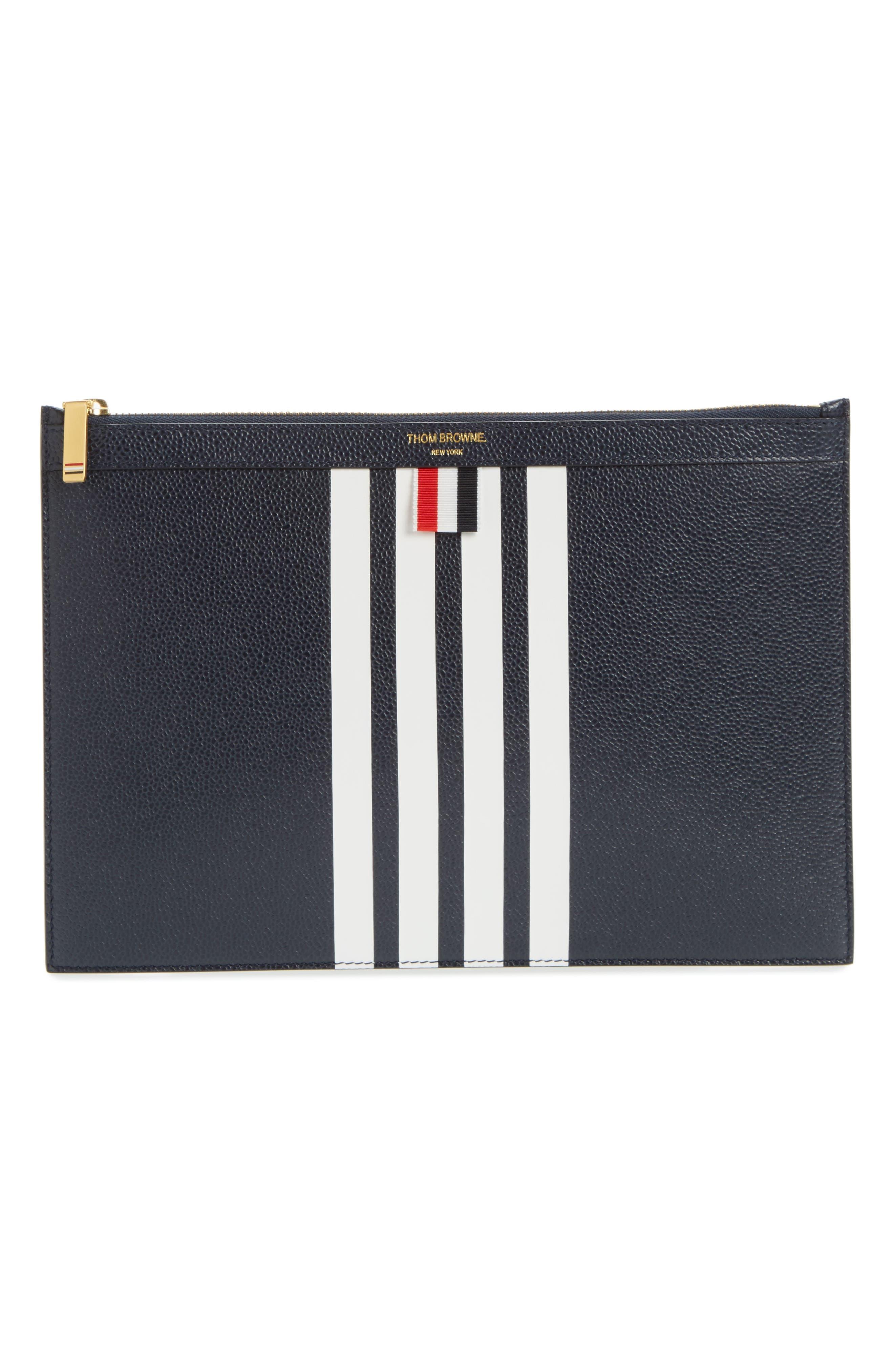 Stripe Leather Folio,                         Main,                         color,