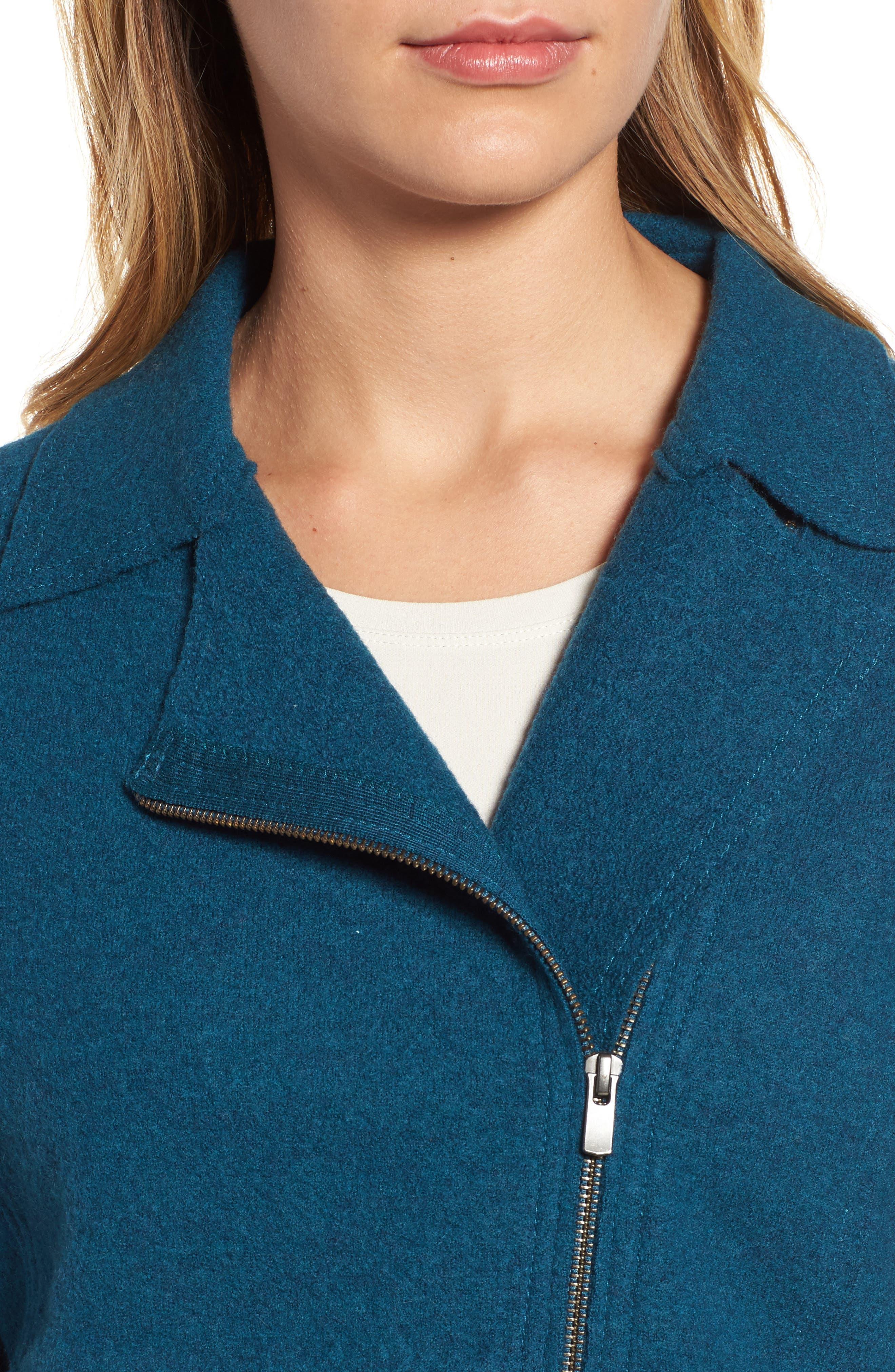 Boiled Wool Moto Jacket,                             Alternate thumbnail 15, color,
