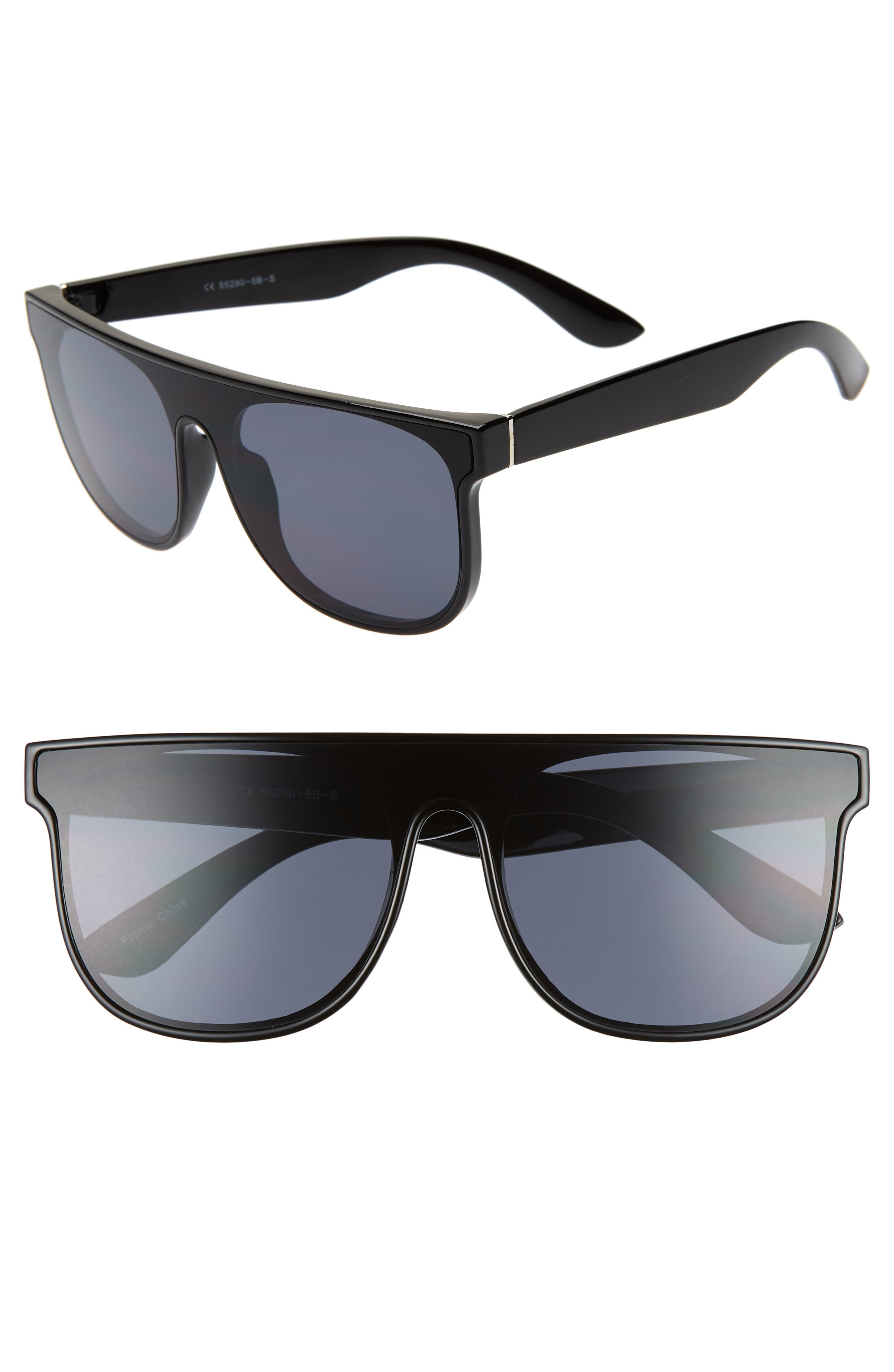 60mm Shield Sunglasses,                         Main,                         color, 001
