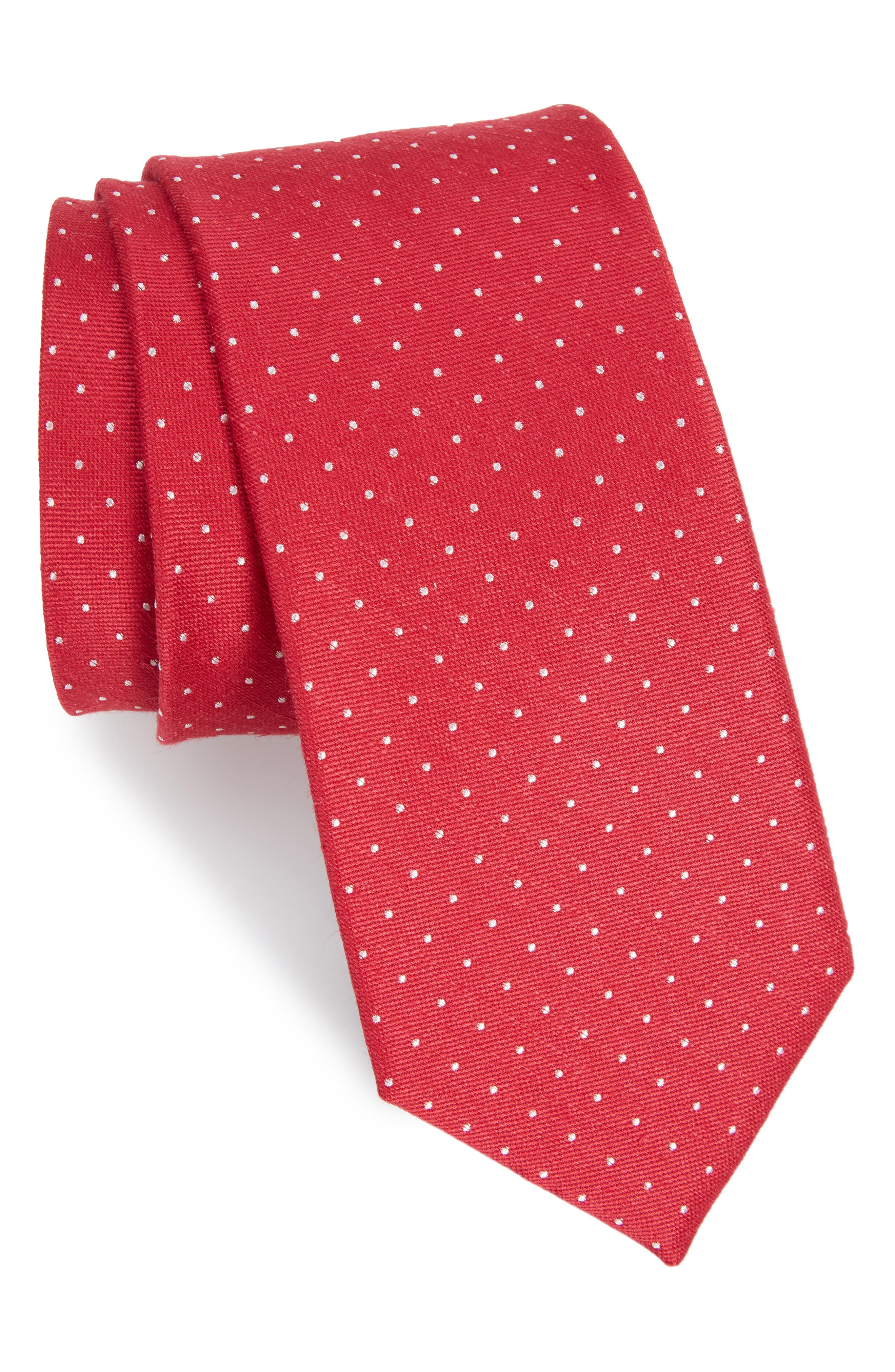 Rivington Dots Silk & Linen Tie,                             Main thumbnail 3, color,