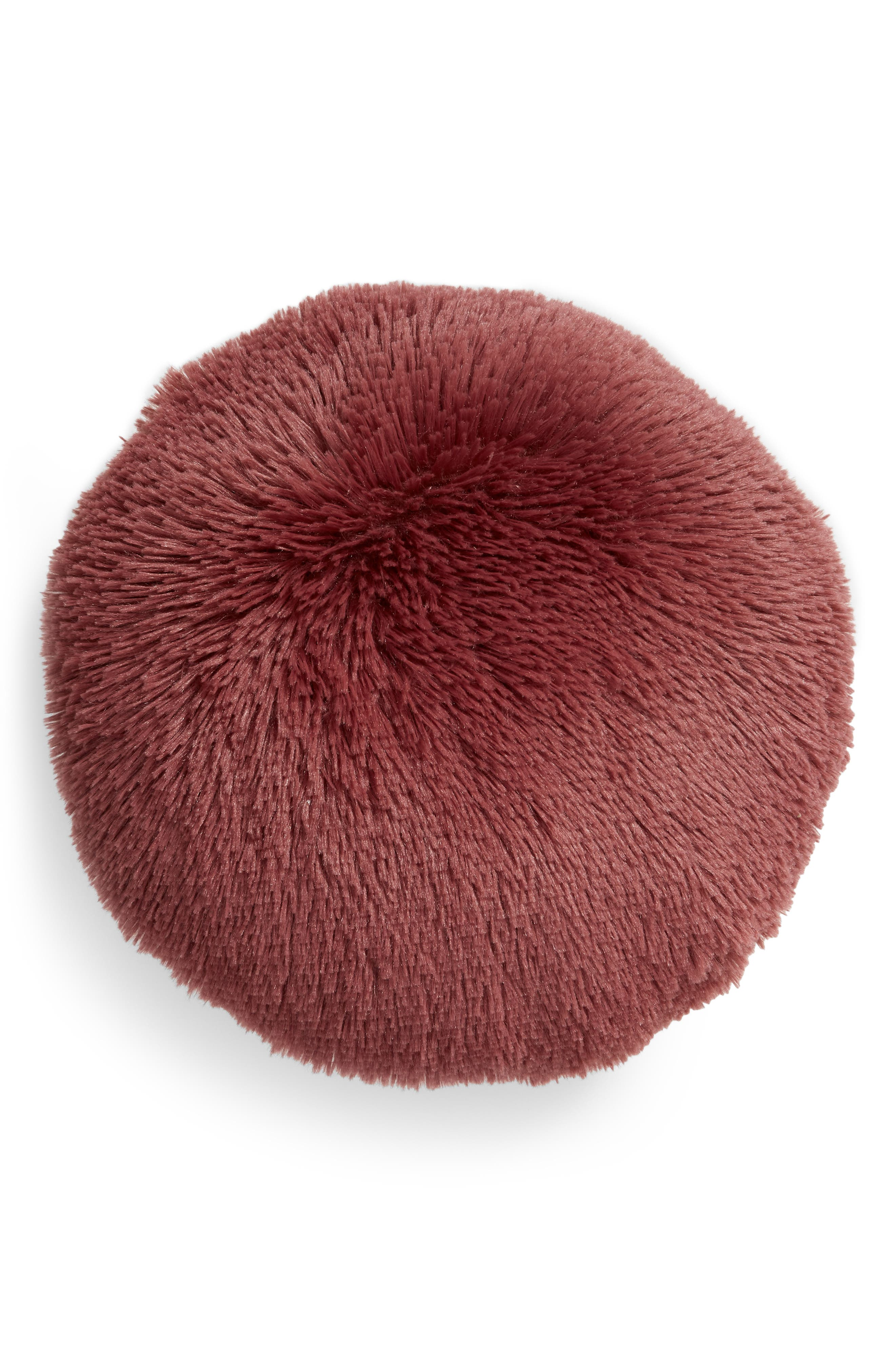 Feather Faux Fur Pillow,                             Main thumbnail 5, color,