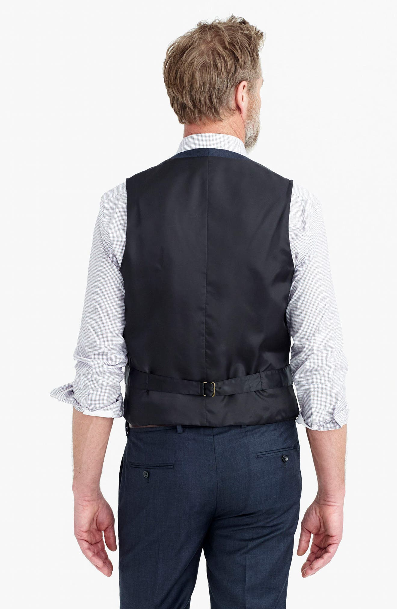Ludlow Trim Fit Solid Wool Vest,                             Alternate thumbnail 15, color,                             410