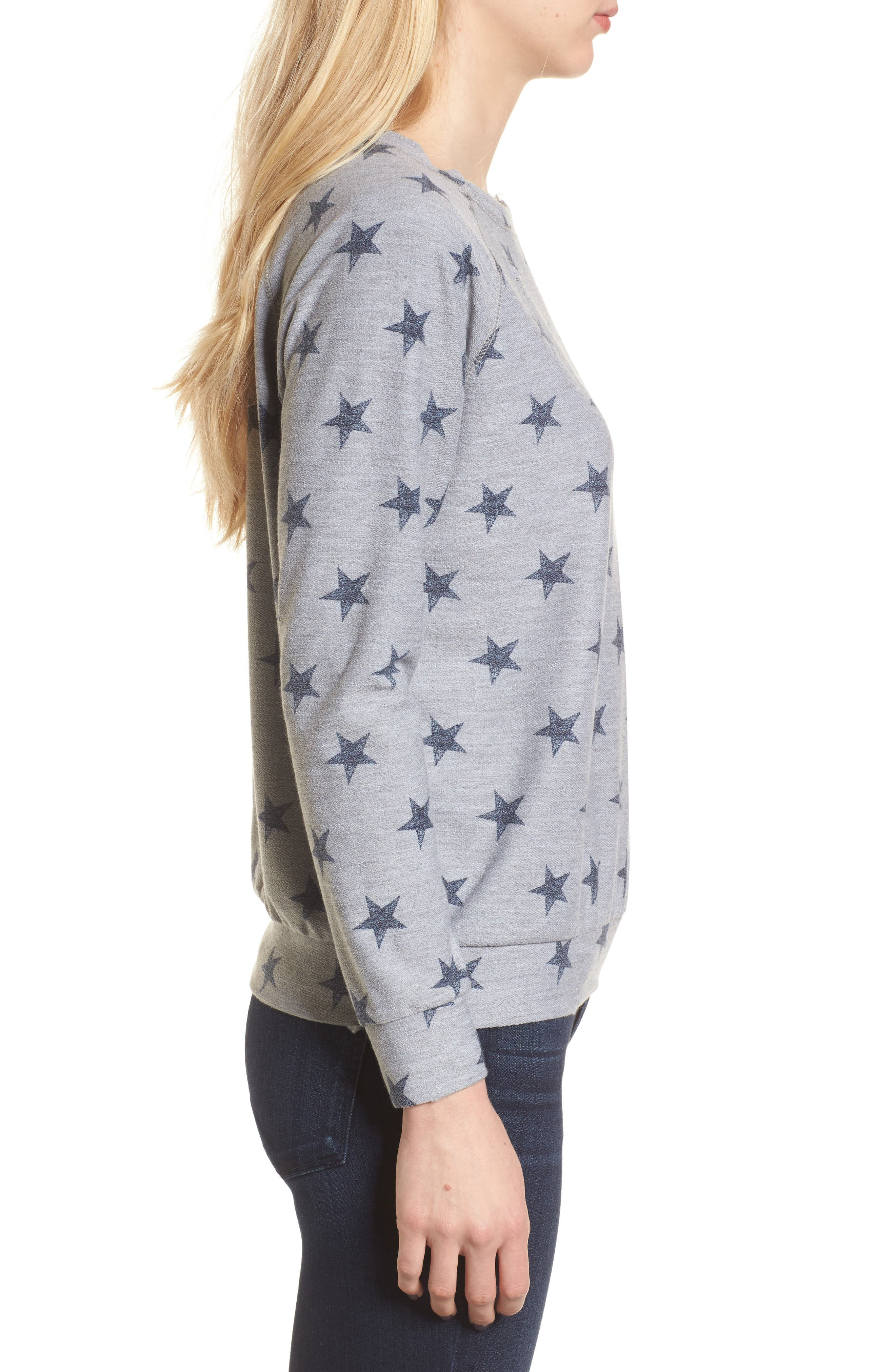 All Over Stars Pullover,                             Alternate thumbnail 3, color,                             020