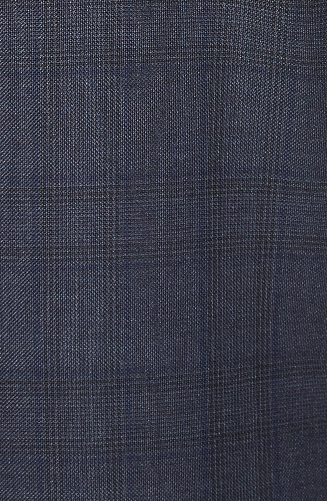 Classic Fit Check Wool Suit,                             Alternate thumbnail 7, color,                             416