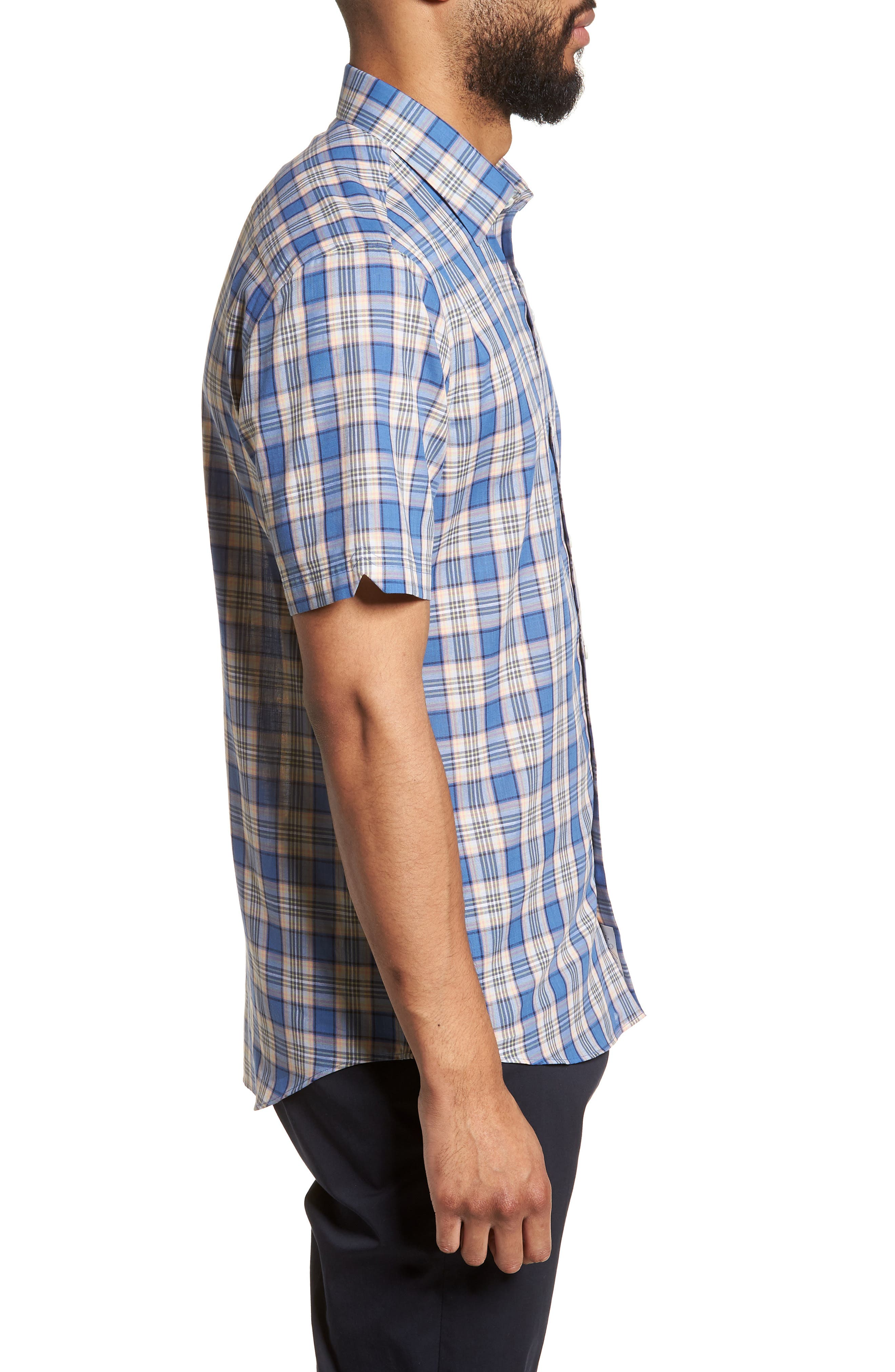 Carter Plaid Sport Shirt,                             Alternate thumbnail 3, color,                             400