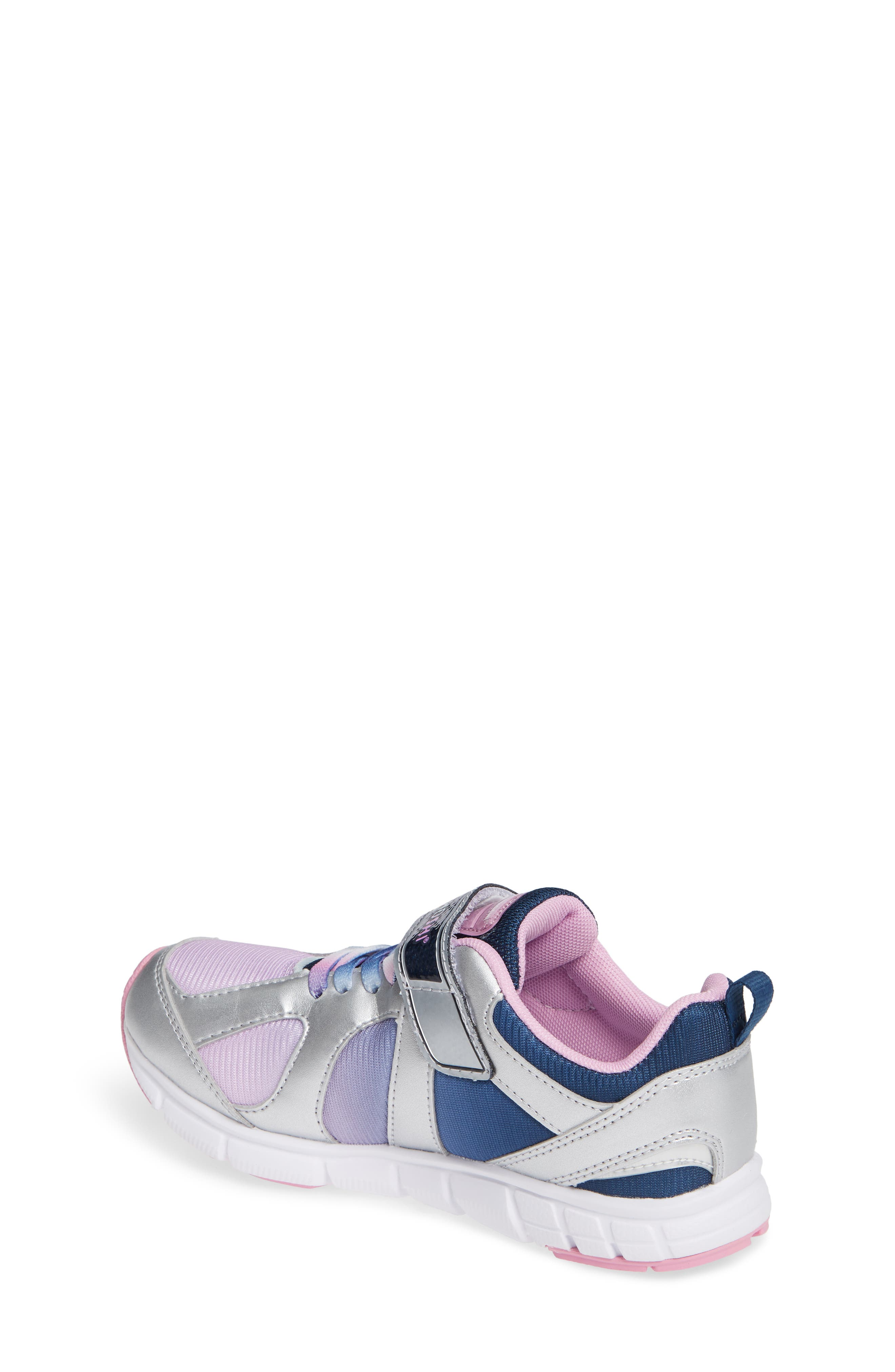 Rainbow Washable Sneaker,                             Alternate thumbnail 2, color,                             SILVER/ NAVY