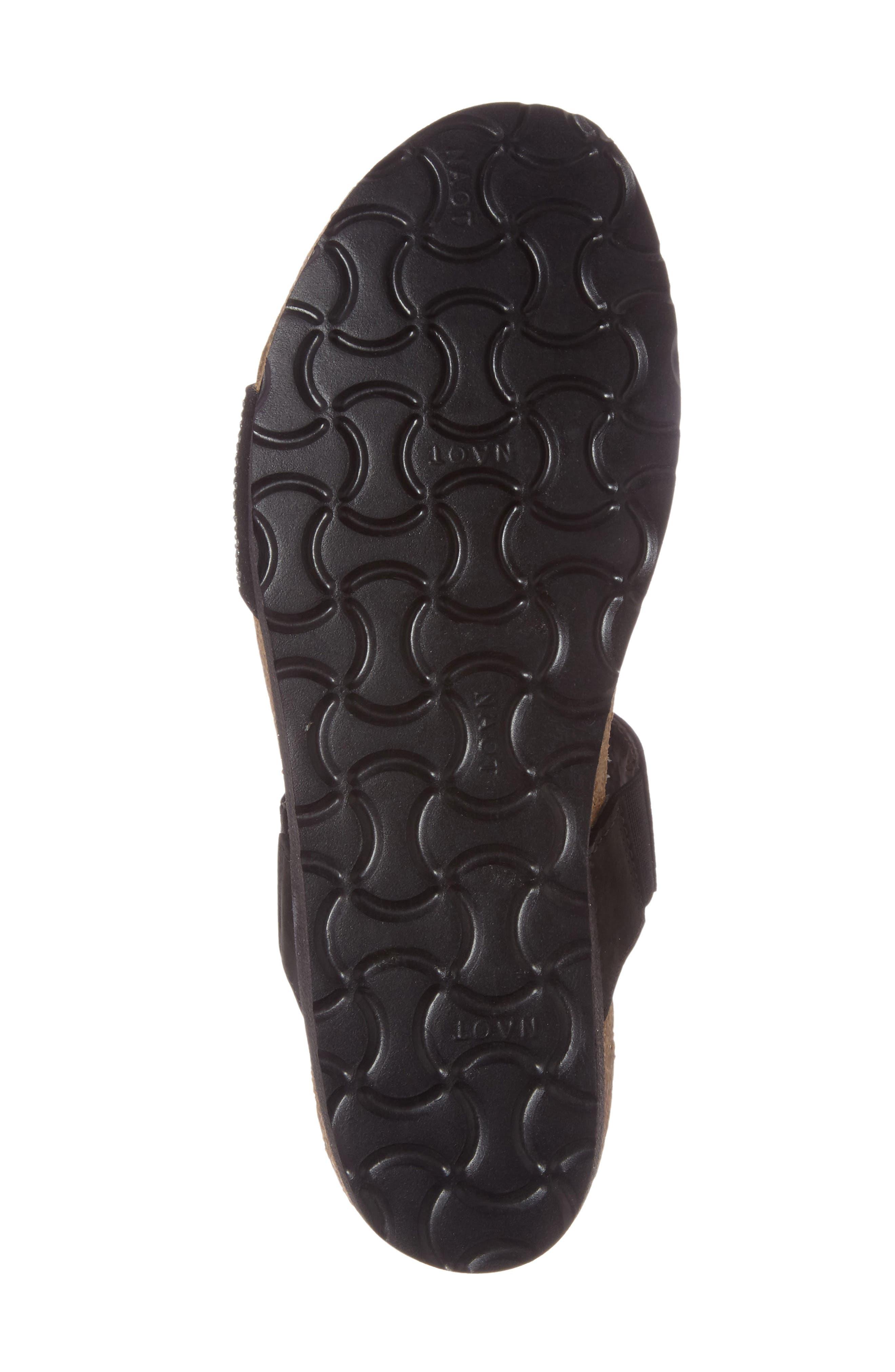 'Bianca' Slide Sandal,                             Alternate thumbnail 4, color,                             BLACK LEATHER
