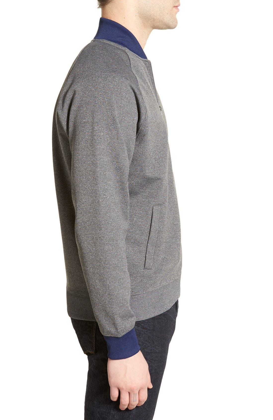 FRED PERRY,                             Bomber Track Jacket,                             Alternate thumbnail 4, color,                             024