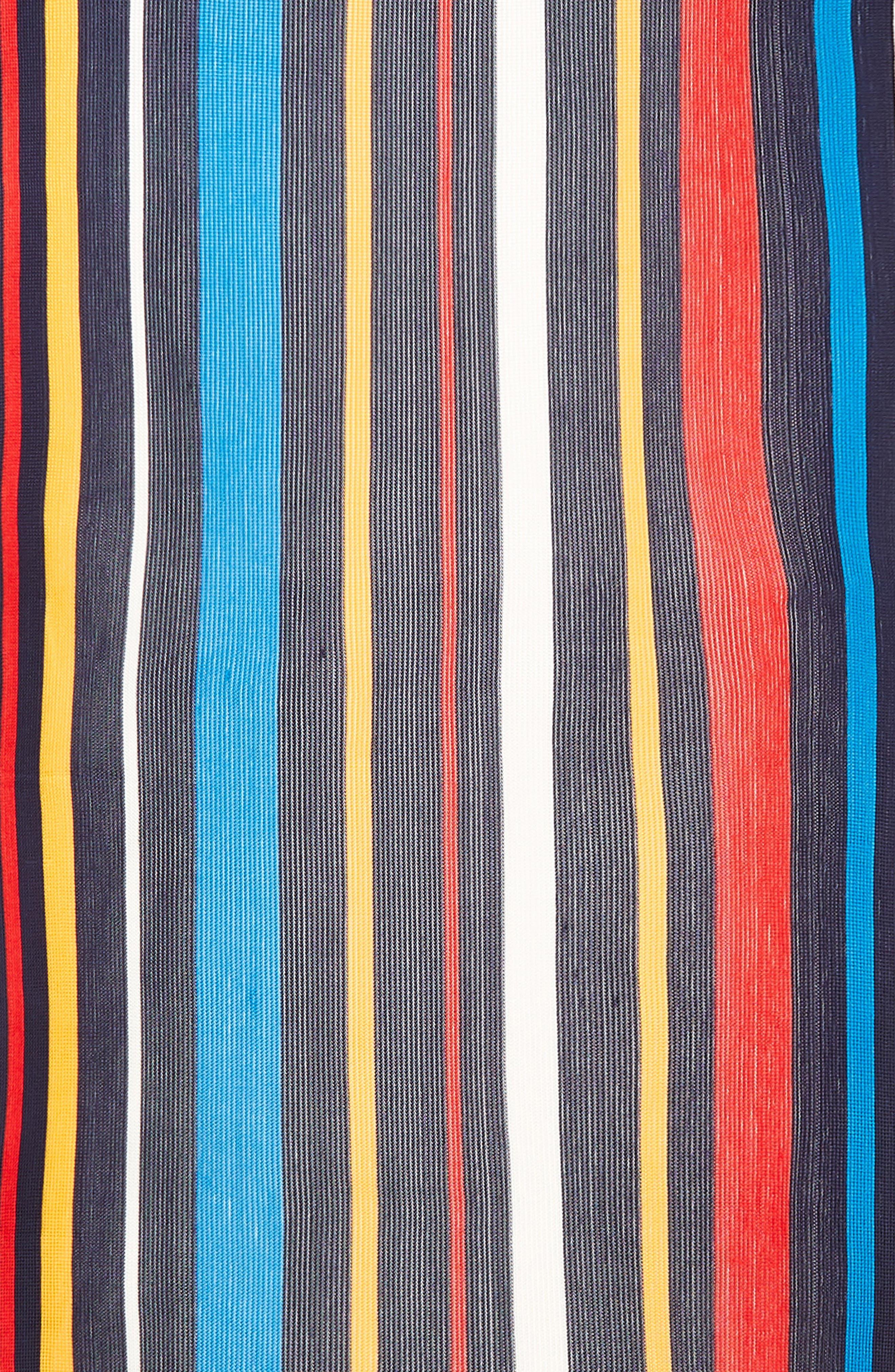 Cabana Stripe Silk Scarf,                             Alternate thumbnail 4, color,                             411