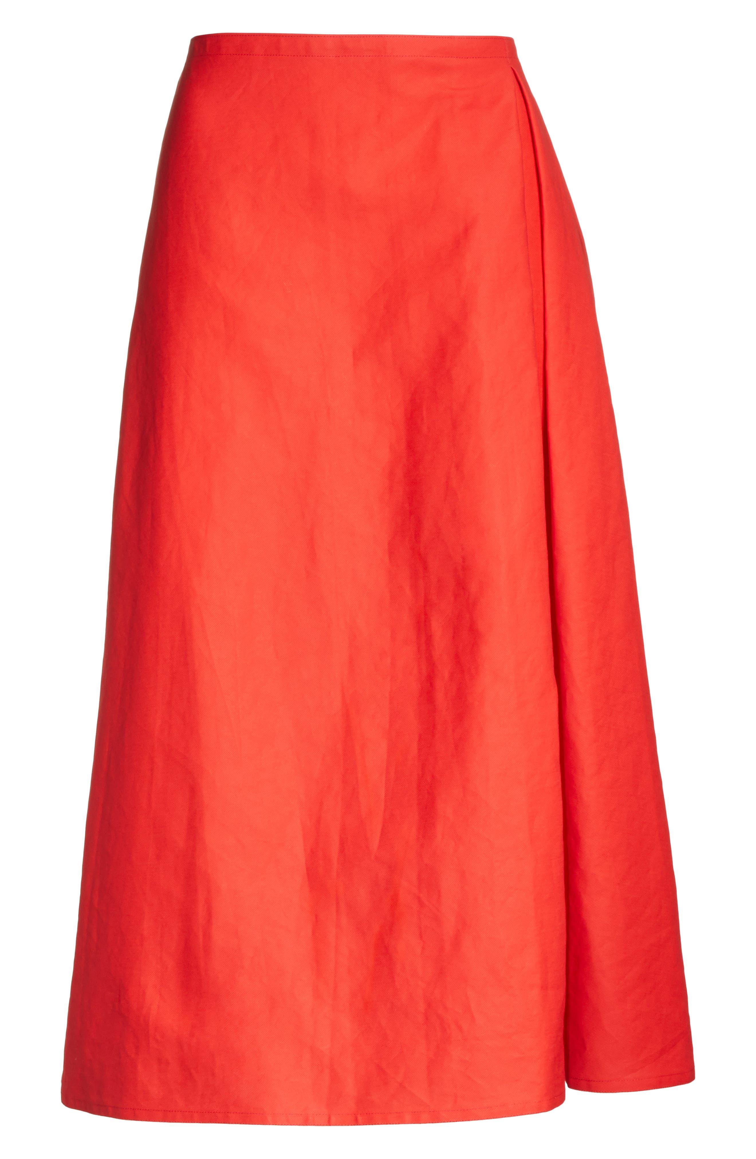 Faux Wrap Skirt,                             Alternate thumbnail 6, color,                             600