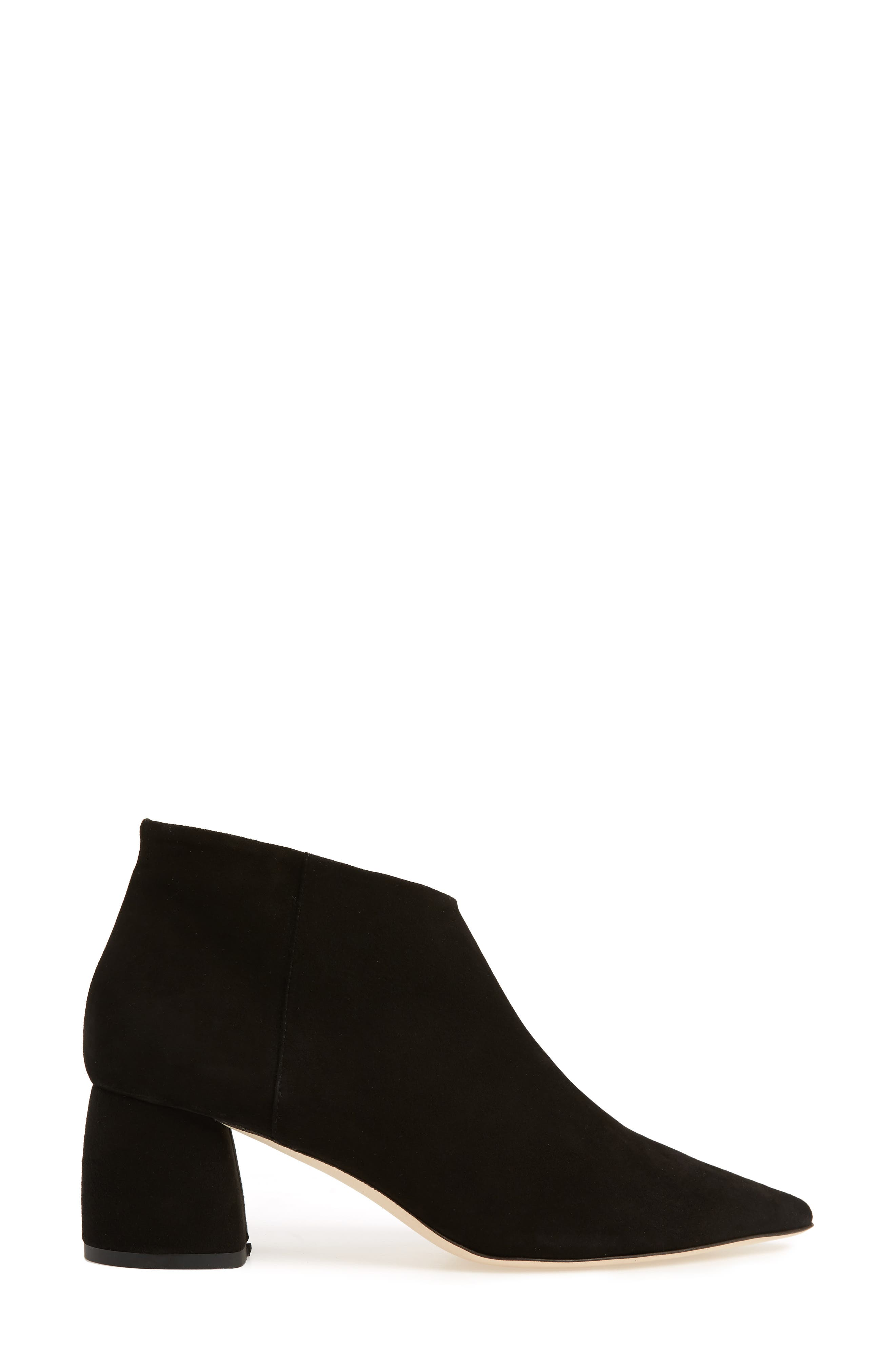 Butter Whistle Pointy Toe Bootie,                             Alternate thumbnail 3, color,                             001