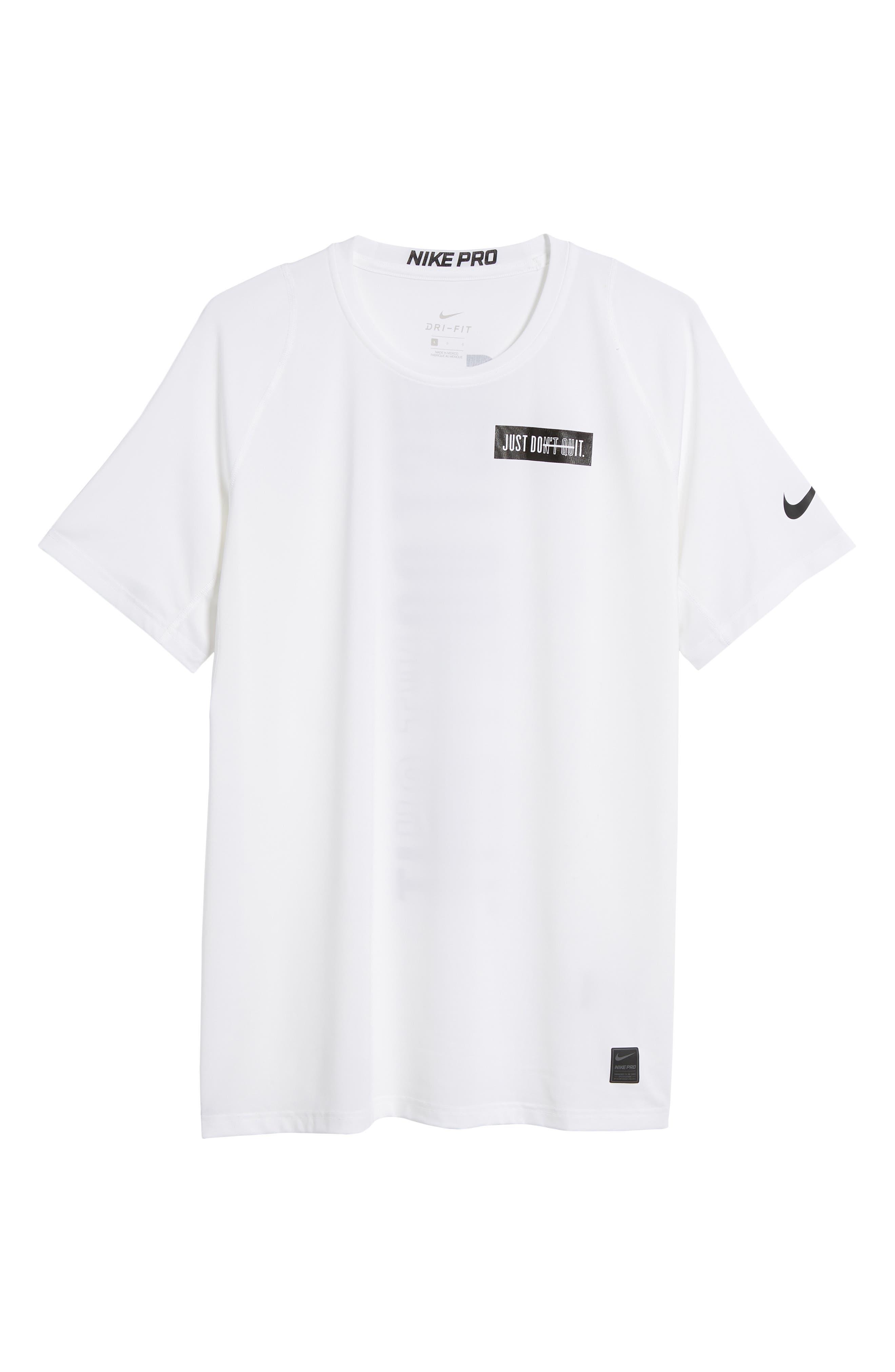 Pro JDI Logo Dry T-Shirt,                             Alternate thumbnail 6, color,                             WHITE/ BLACK