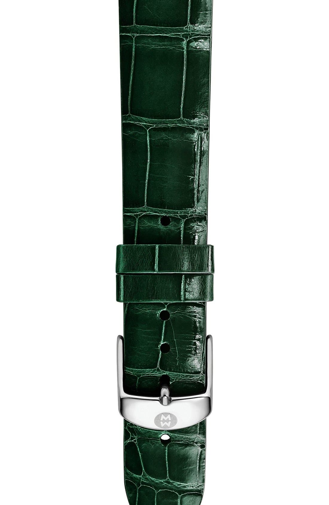 16mm Alligator Watch Strap,                             Main thumbnail 2, color,