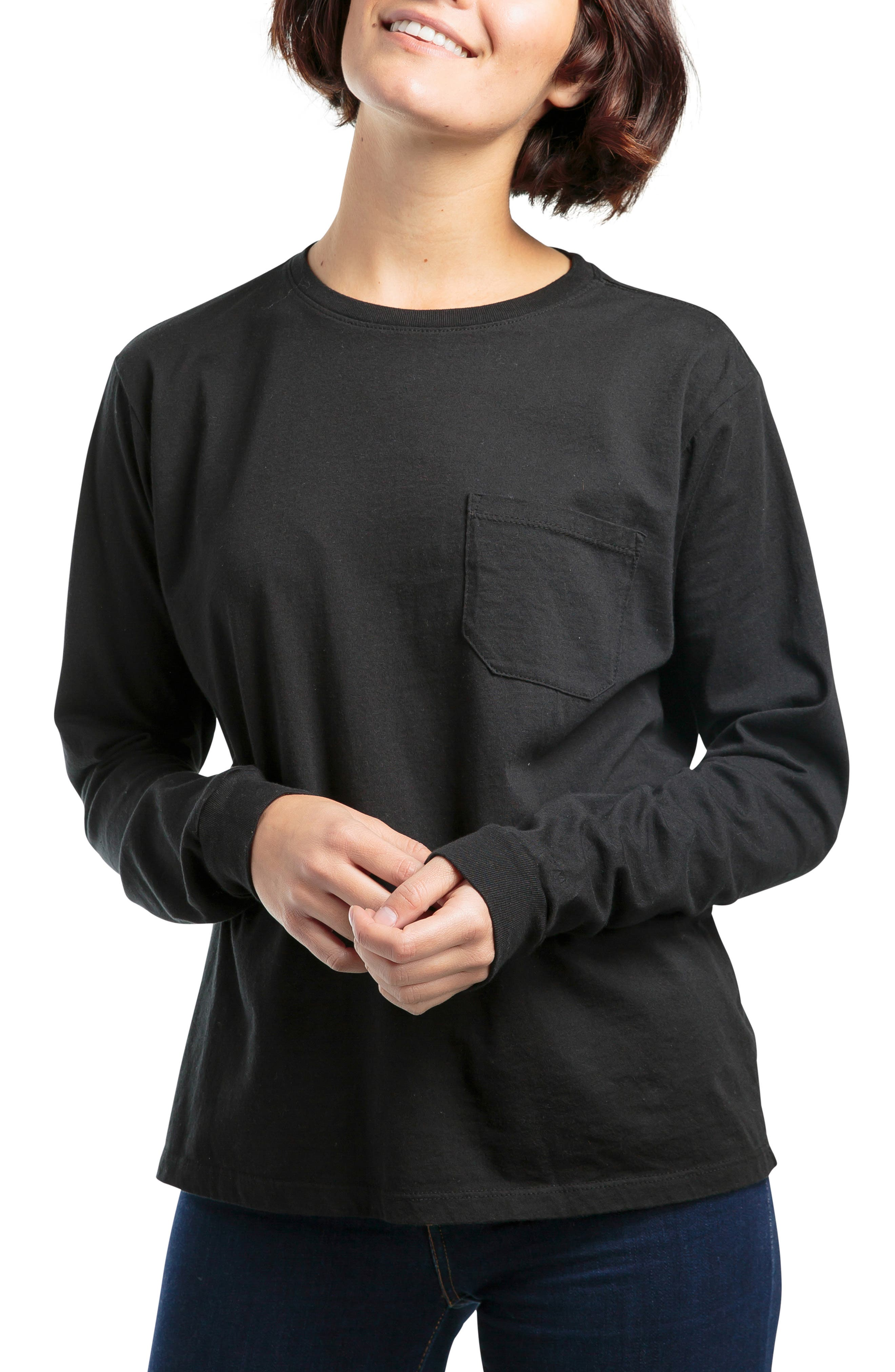 Long Sleeve Pocket Tee,                         Main,                         color, 013