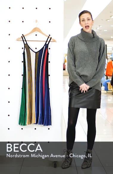 Pleated Rib Knit Dress, sales video thumbnail