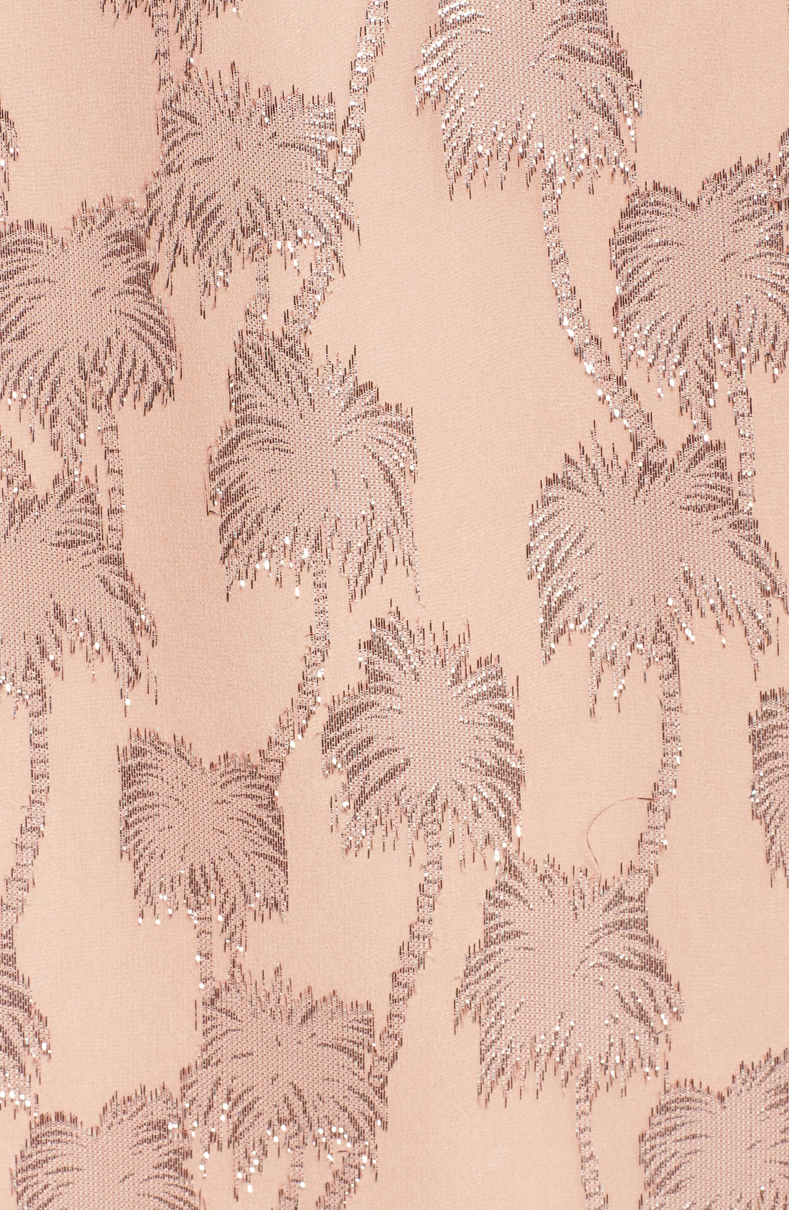 Marlyse Cold Shoulder Silk Dress,                             Alternate thumbnail 5, color,