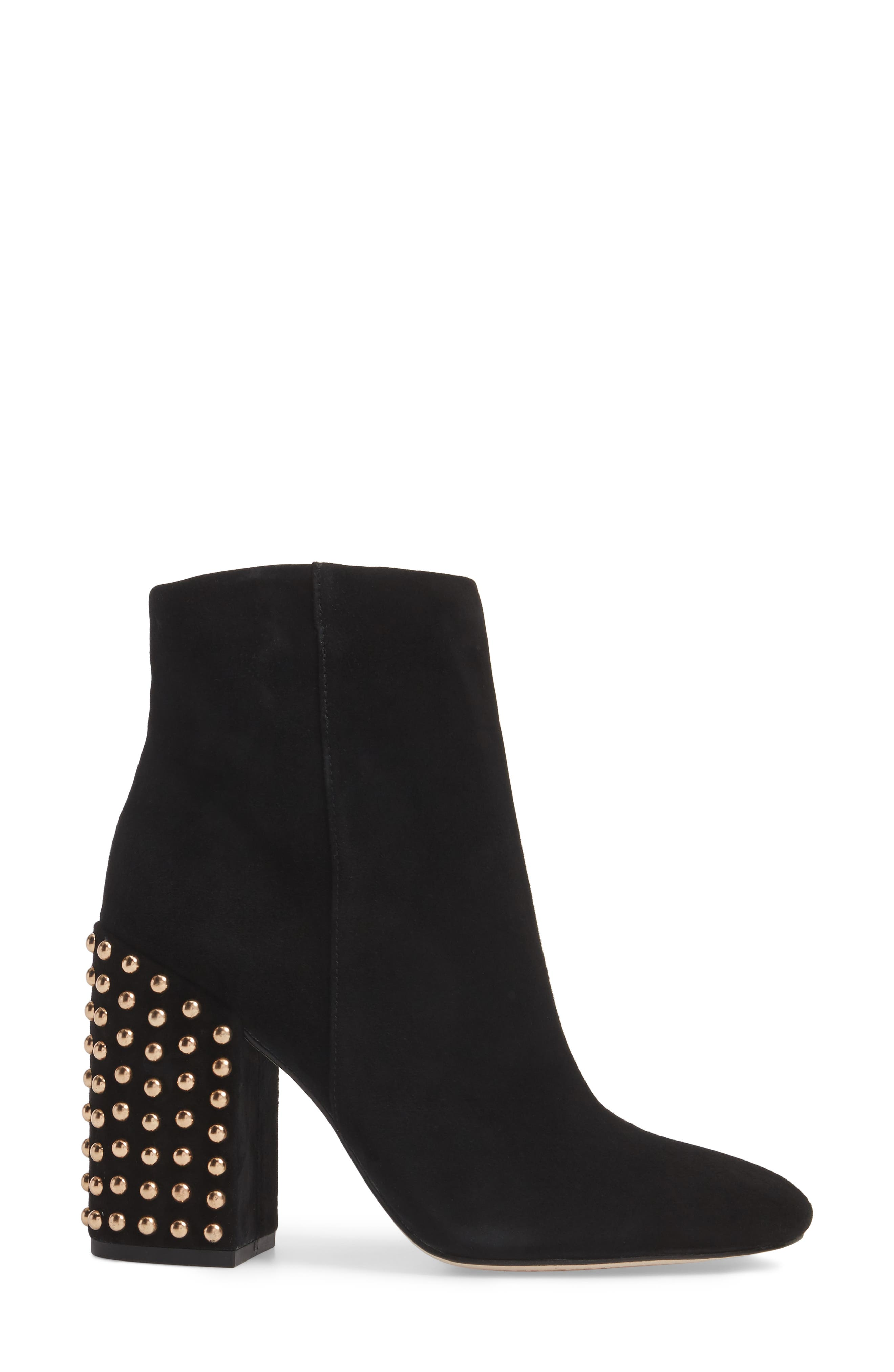 Genuine Calf Hair Wexton Bootie,                             Alternate thumbnail 3, color,                             001