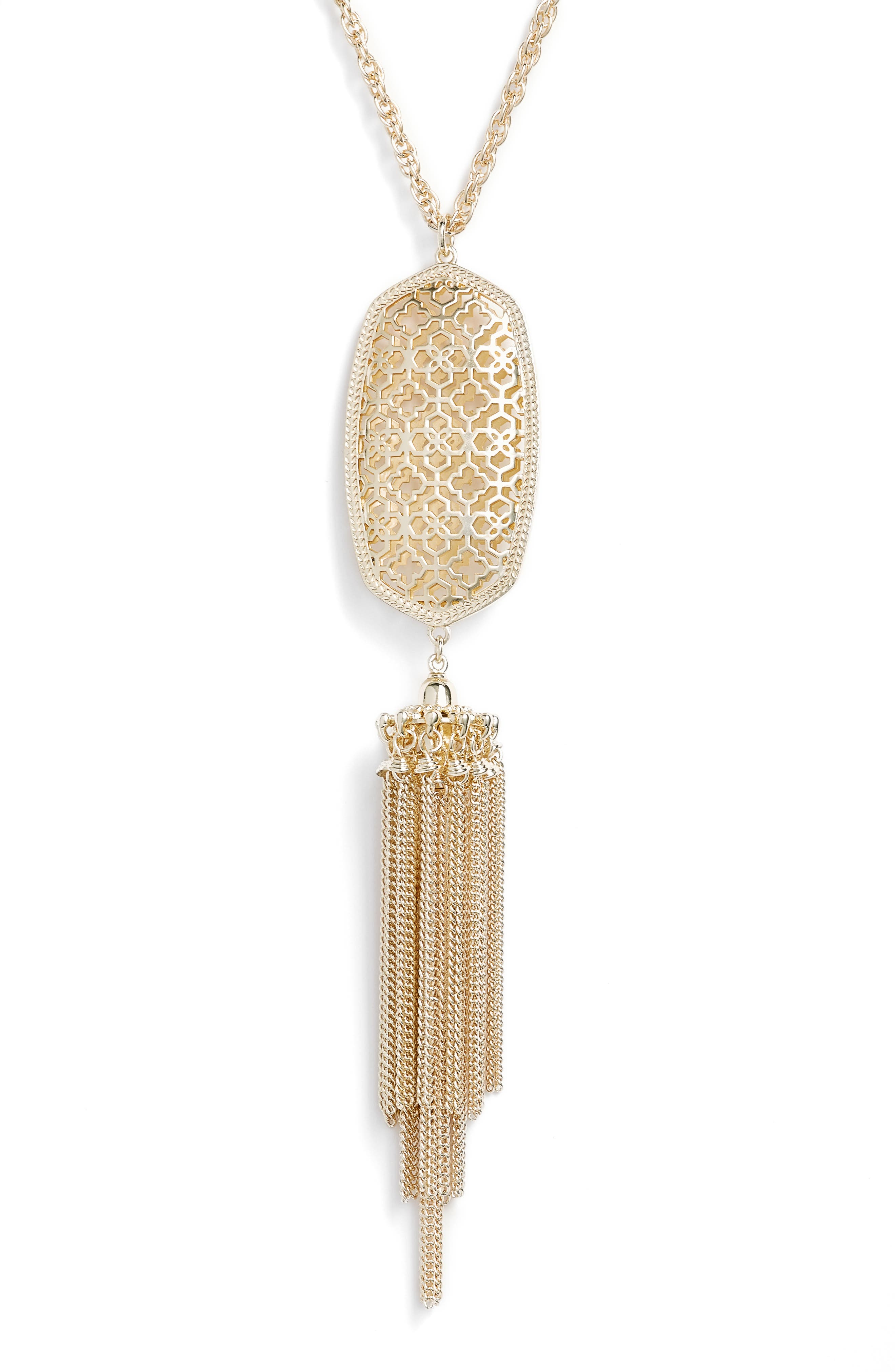 Rayne Stone Tassel Pendant Necklace,                             Alternate thumbnail 143, color,