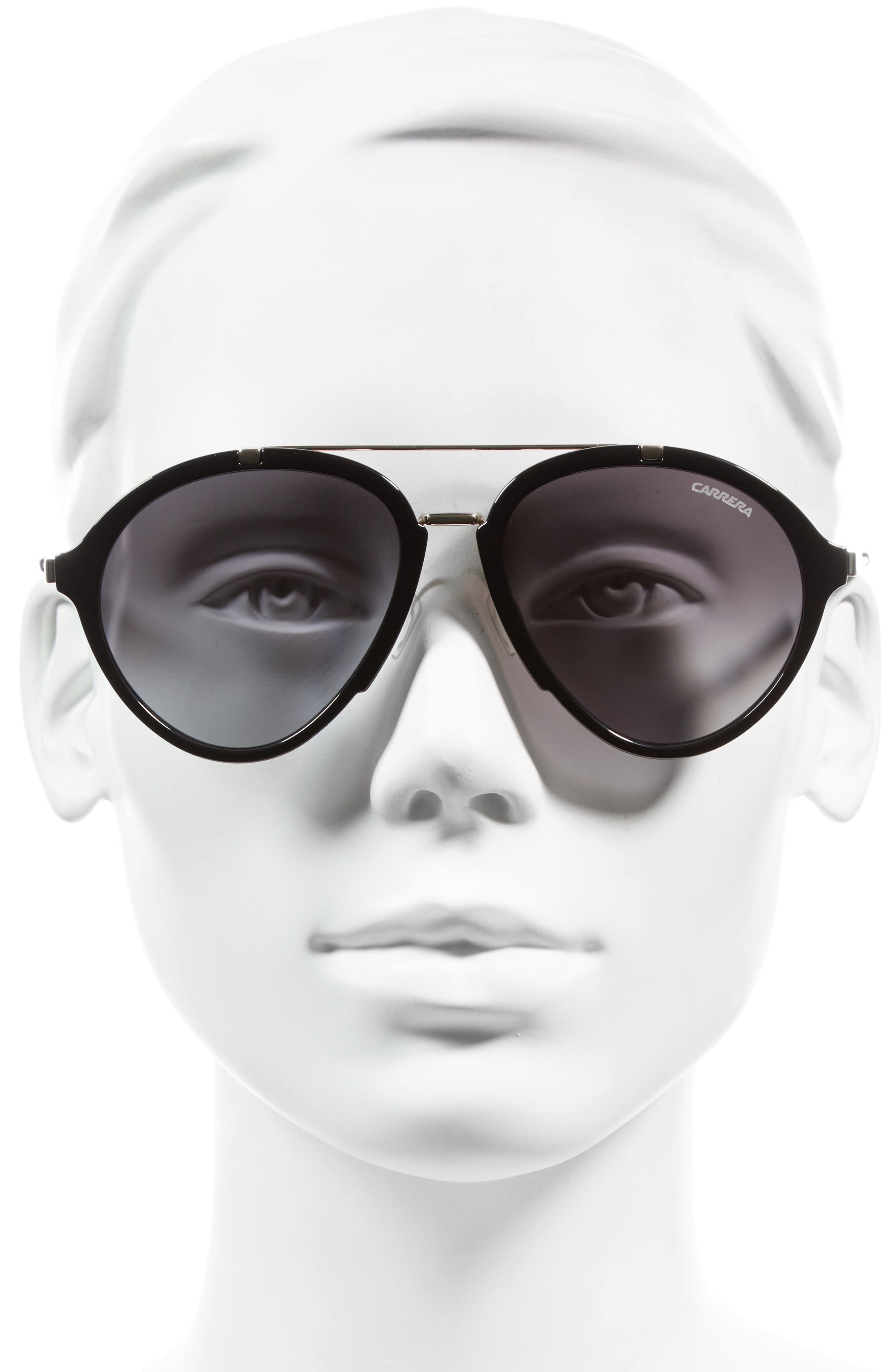 54mm Gradient Aviator Sunglasses,                             Alternate thumbnail 2, color,                             001