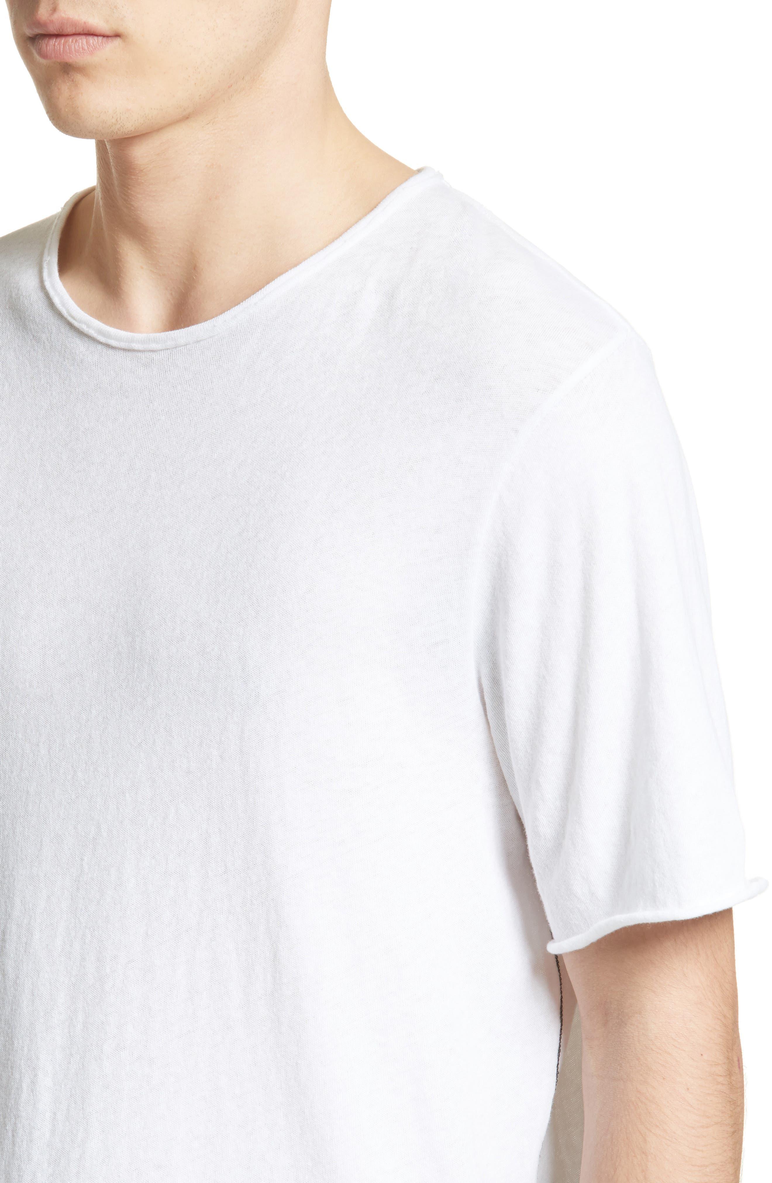Hartley Cotton & Linen T-Shirt,                             Alternate thumbnail 4, color,                             101