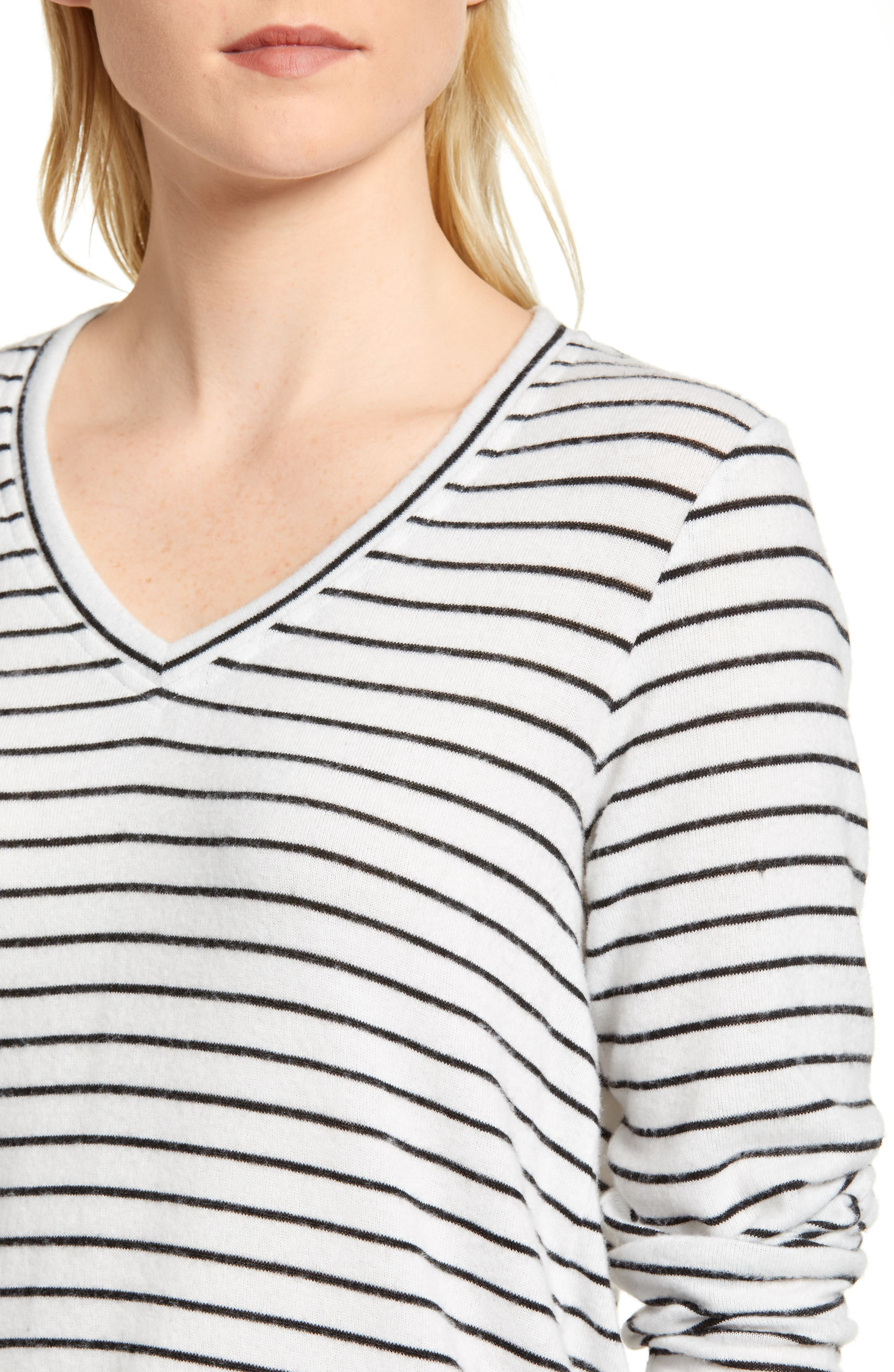 x Living in Yellow Steph Cozy Stripe Top,                             Alternate thumbnail 8, color,