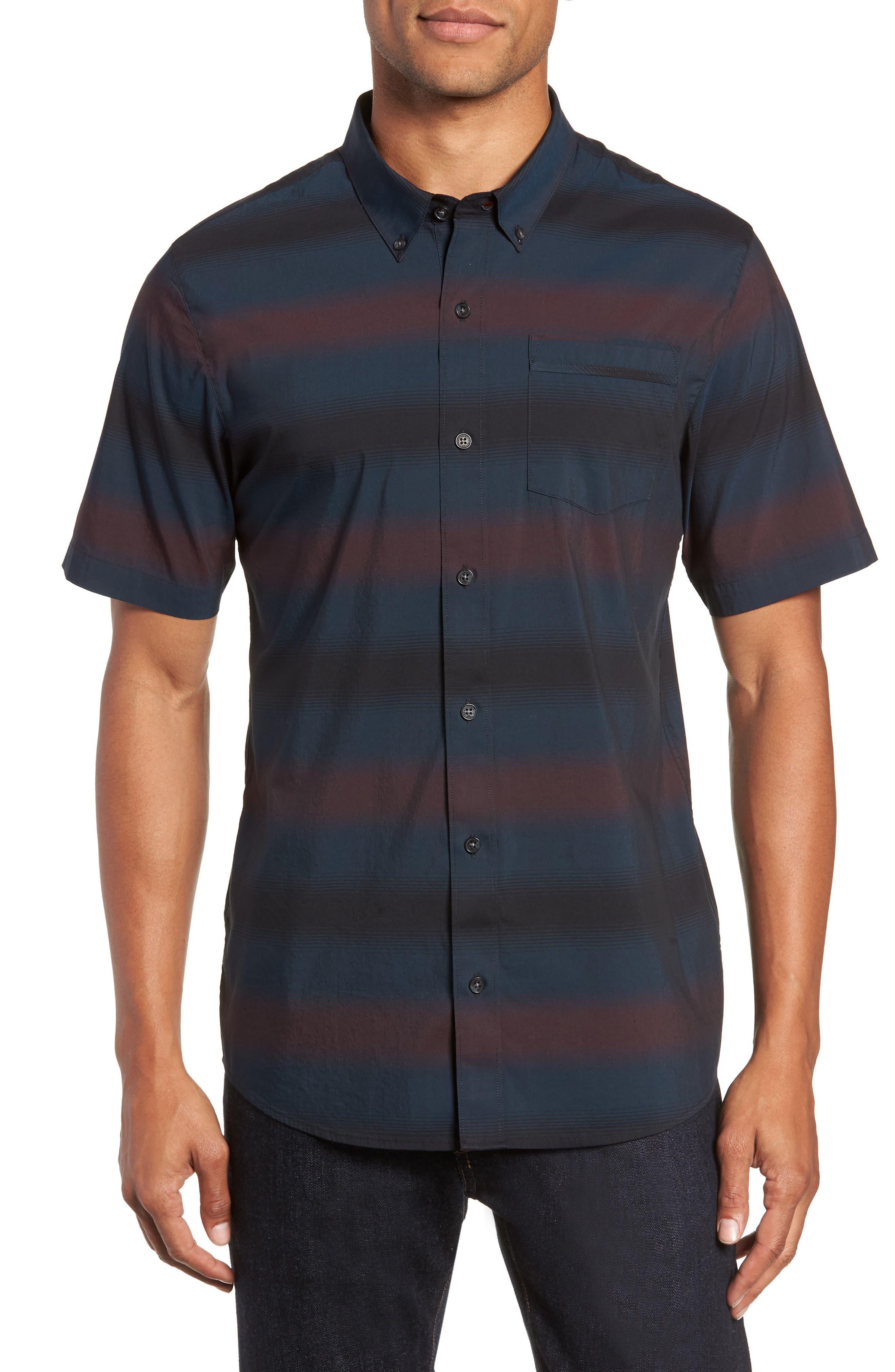 Travis Mathew Magic Castle Regular Fit Sport Shirt, Blue