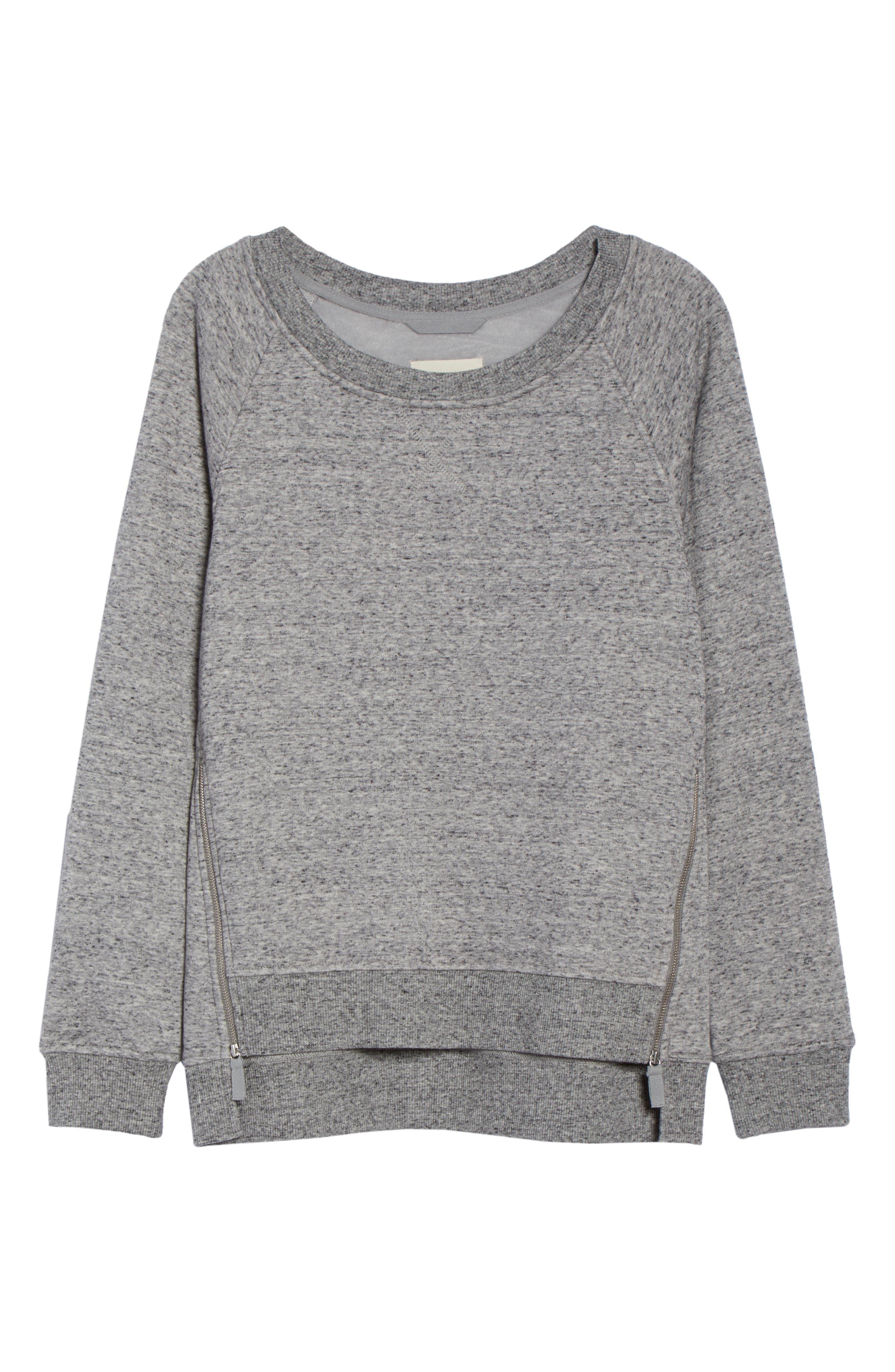 Morgan Sweatshirt,                             Alternate thumbnail 6, color,                             GREY HEATHER