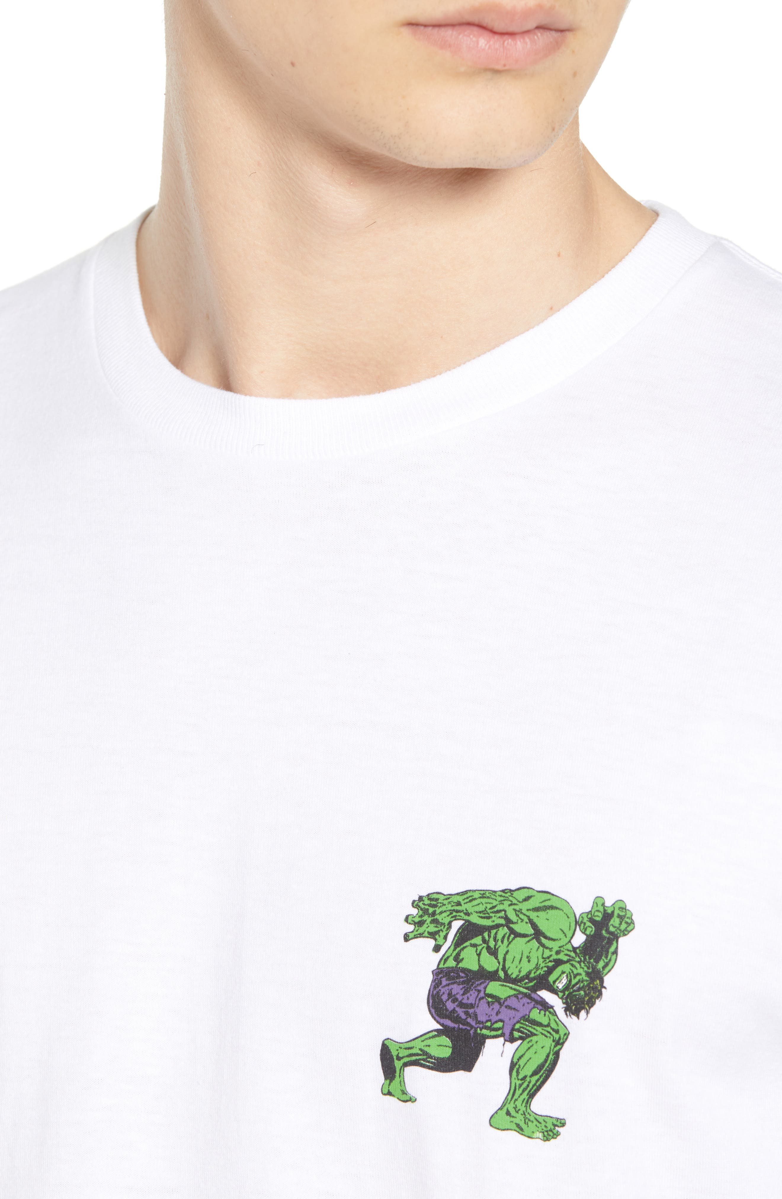 x Marvel<sup>®</sup> Hulk T-Shirt,                             Alternate thumbnail 4, color,                             WHITE