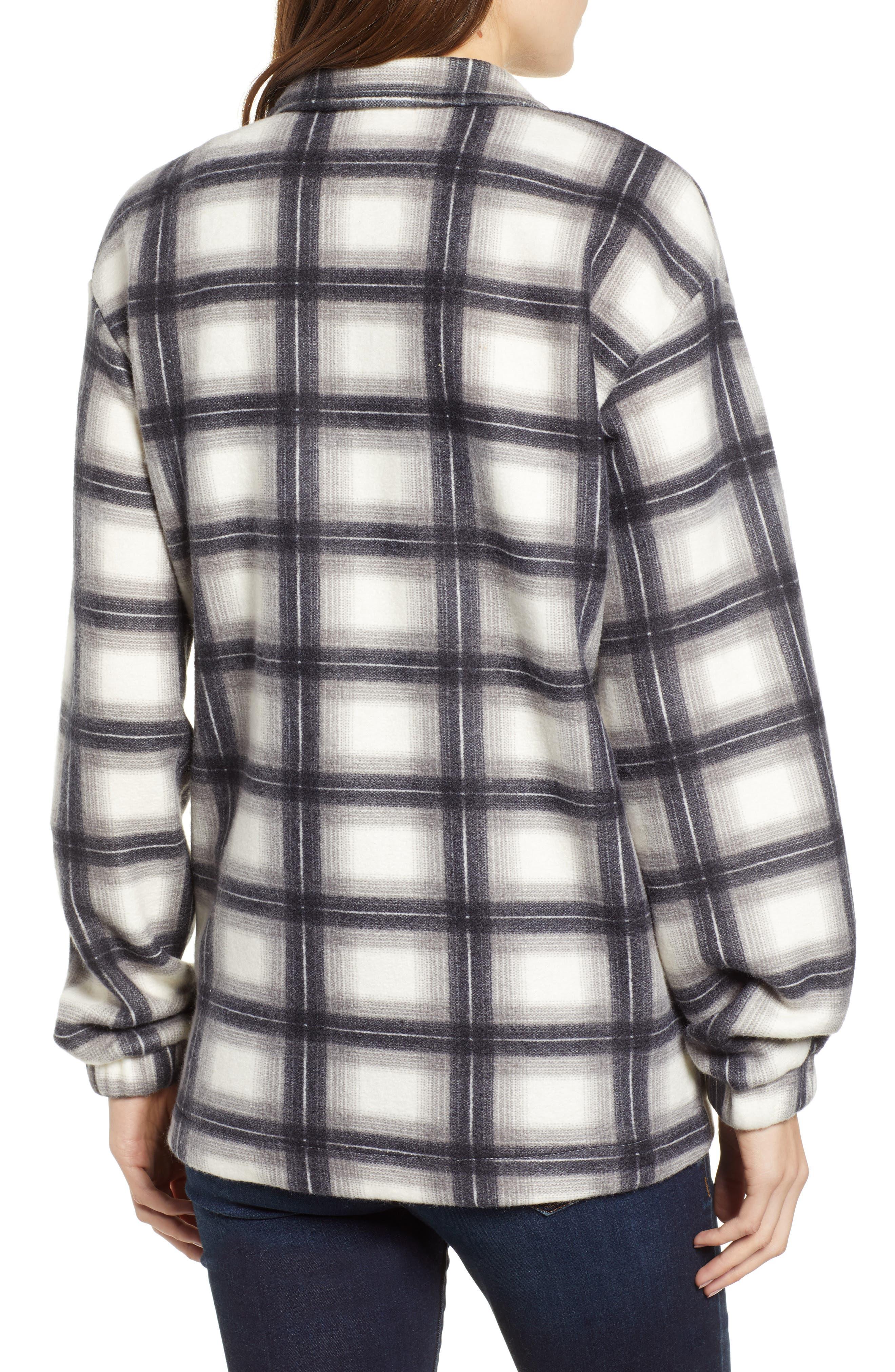 Plaid Shirt Jacket,                             Alternate thumbnail 2, color,                             GREY