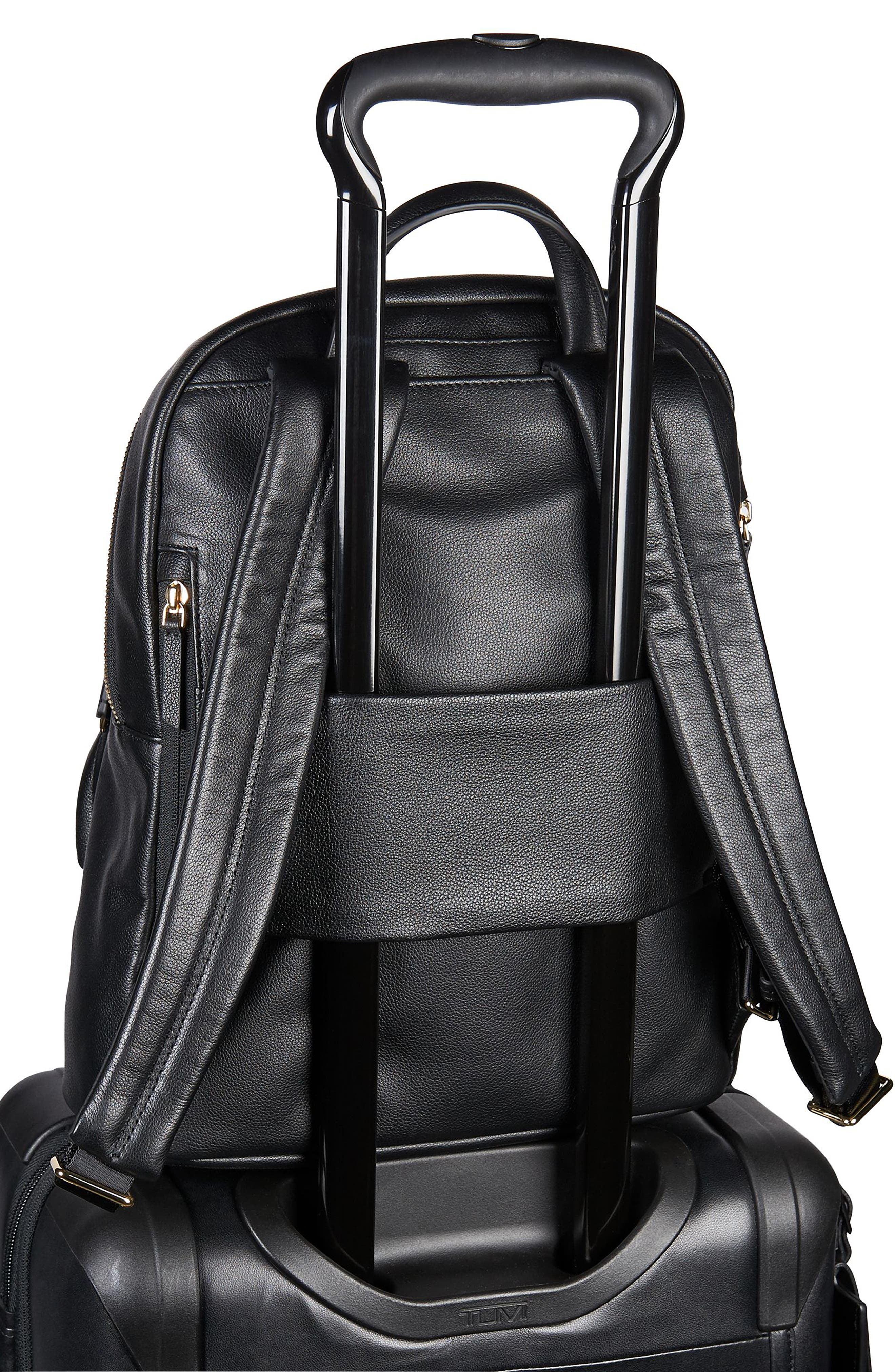 Voyageur Hagen Leather Backpack,                             Alternate thumbnail 6, color,                             001