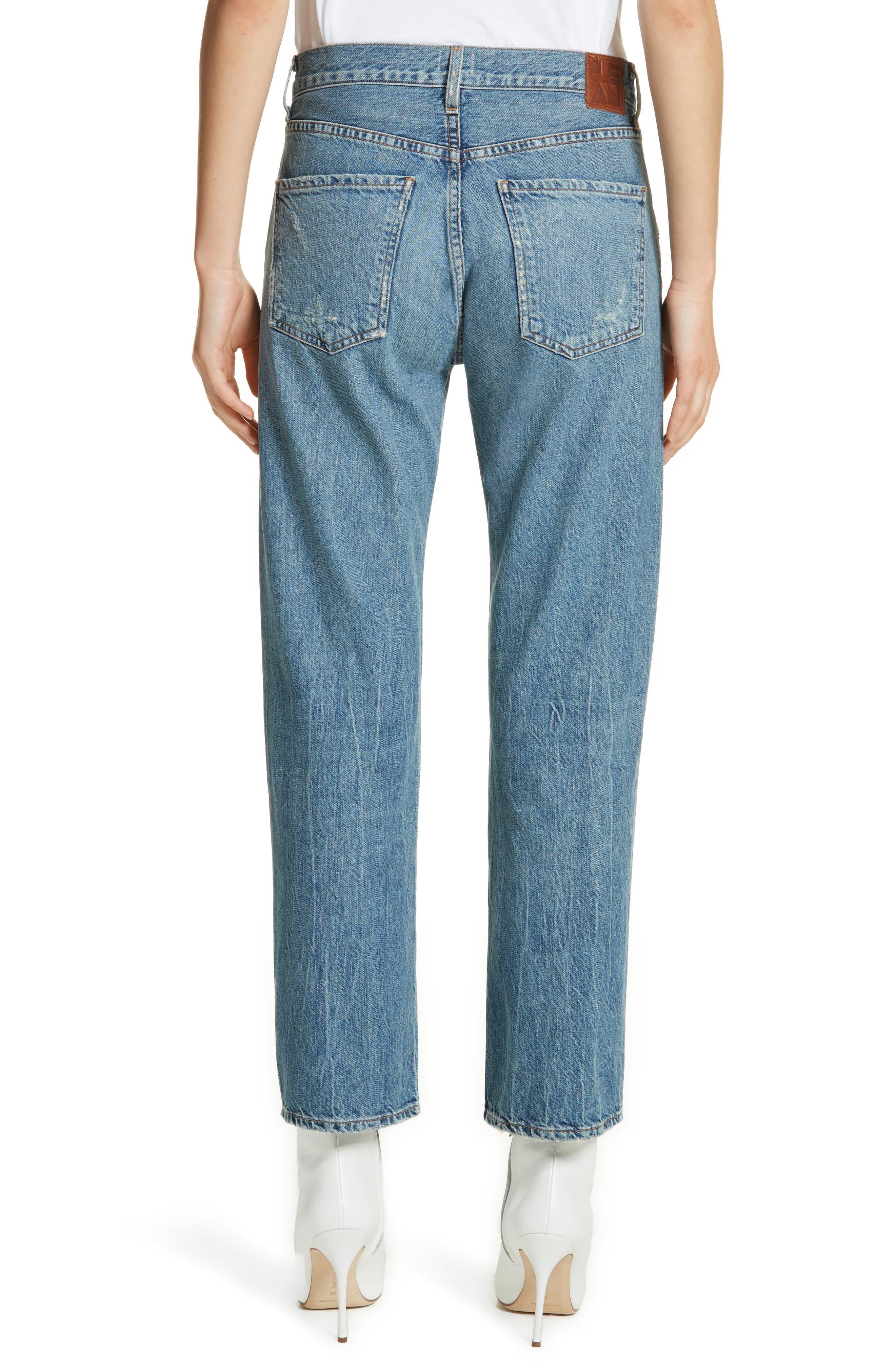 Laurent High Rise Distressed Boyfriend Jeans,                             Alternate thumbnail 2, color,                             VINTAGE