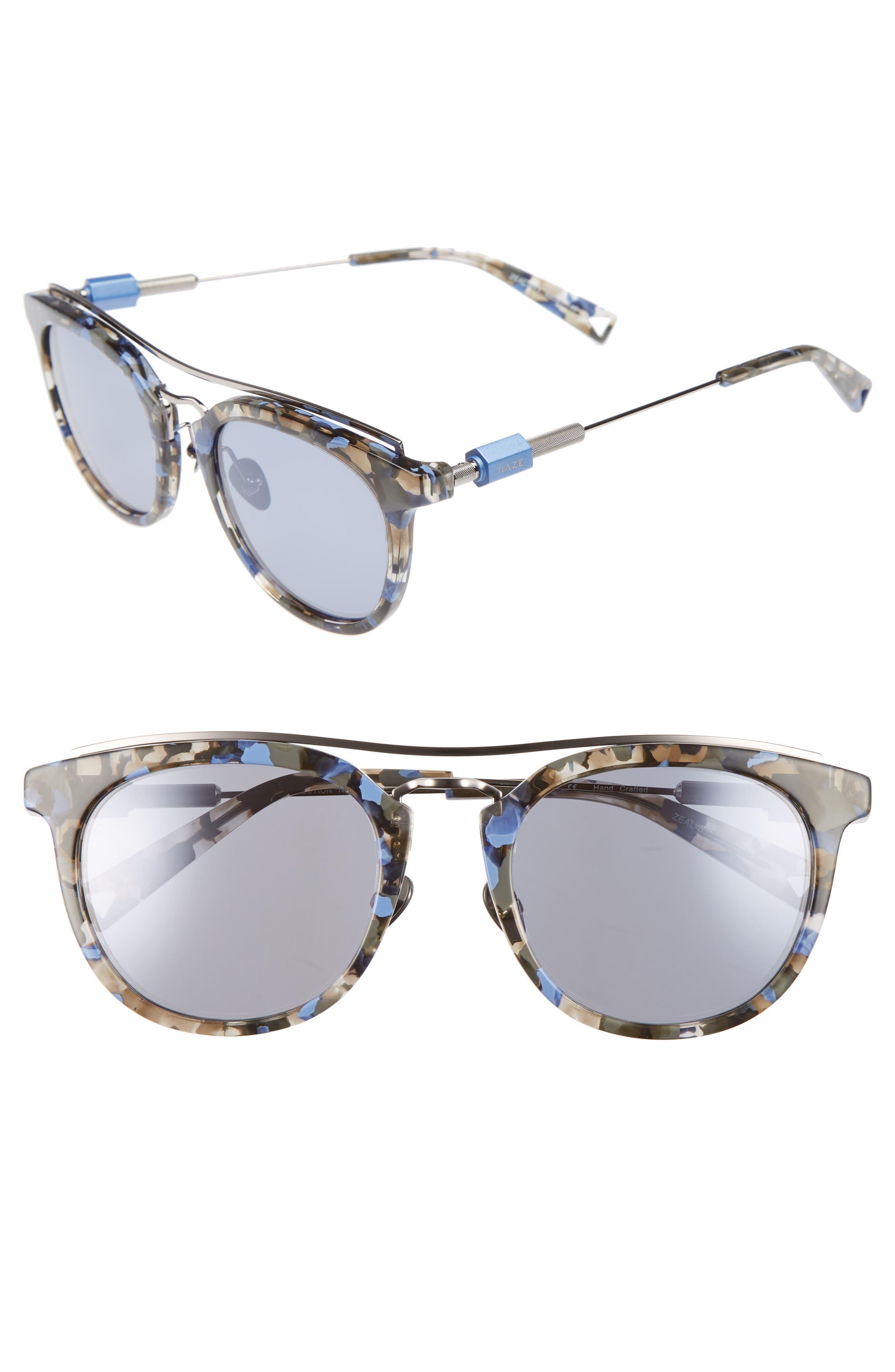 Zeal 52mm Aviator Sunglasses,                             Main thumbnail 2, color,