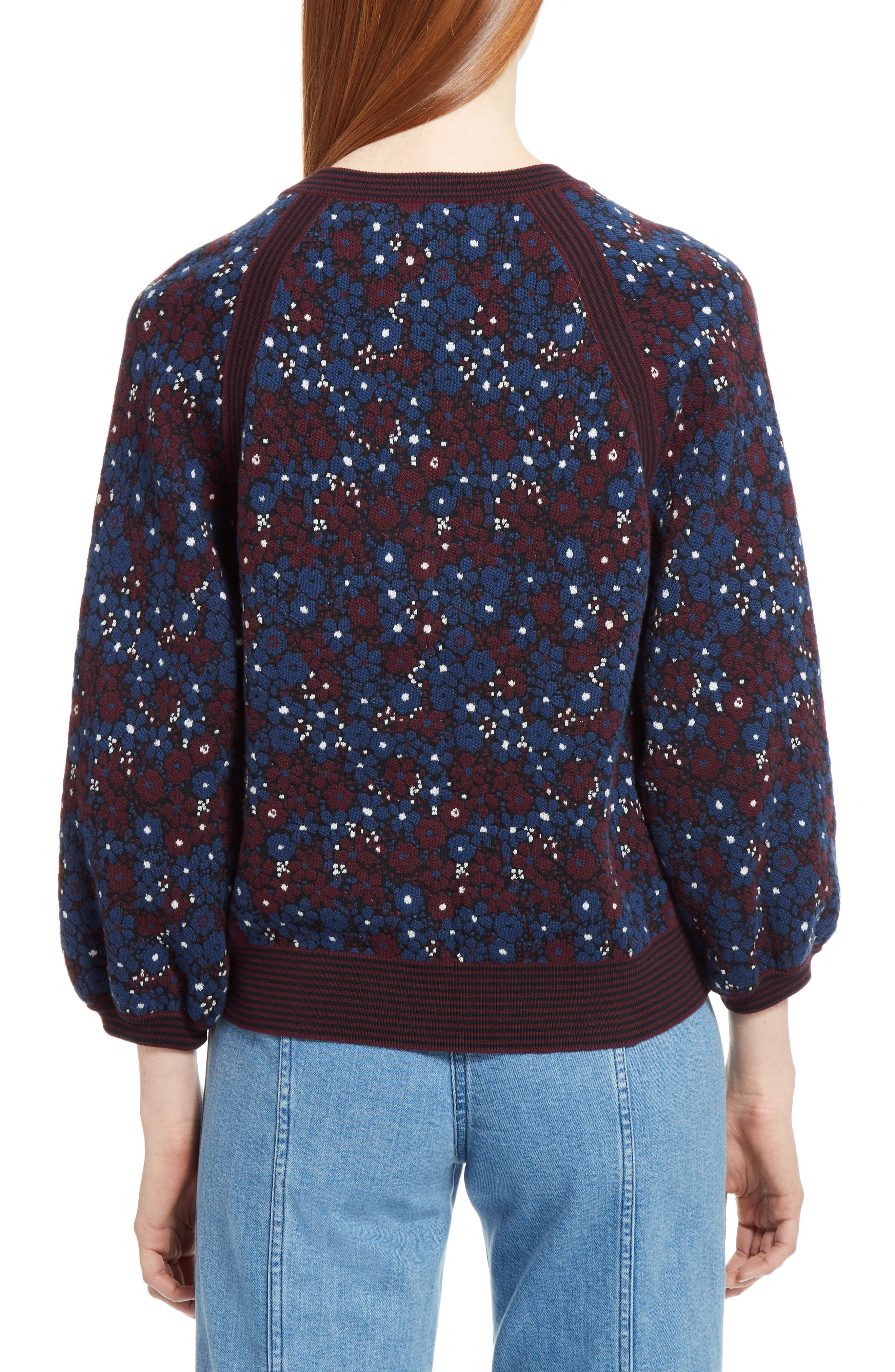 Floral Jacquard Sweater,                             Main thumbnail 1, color,                             401