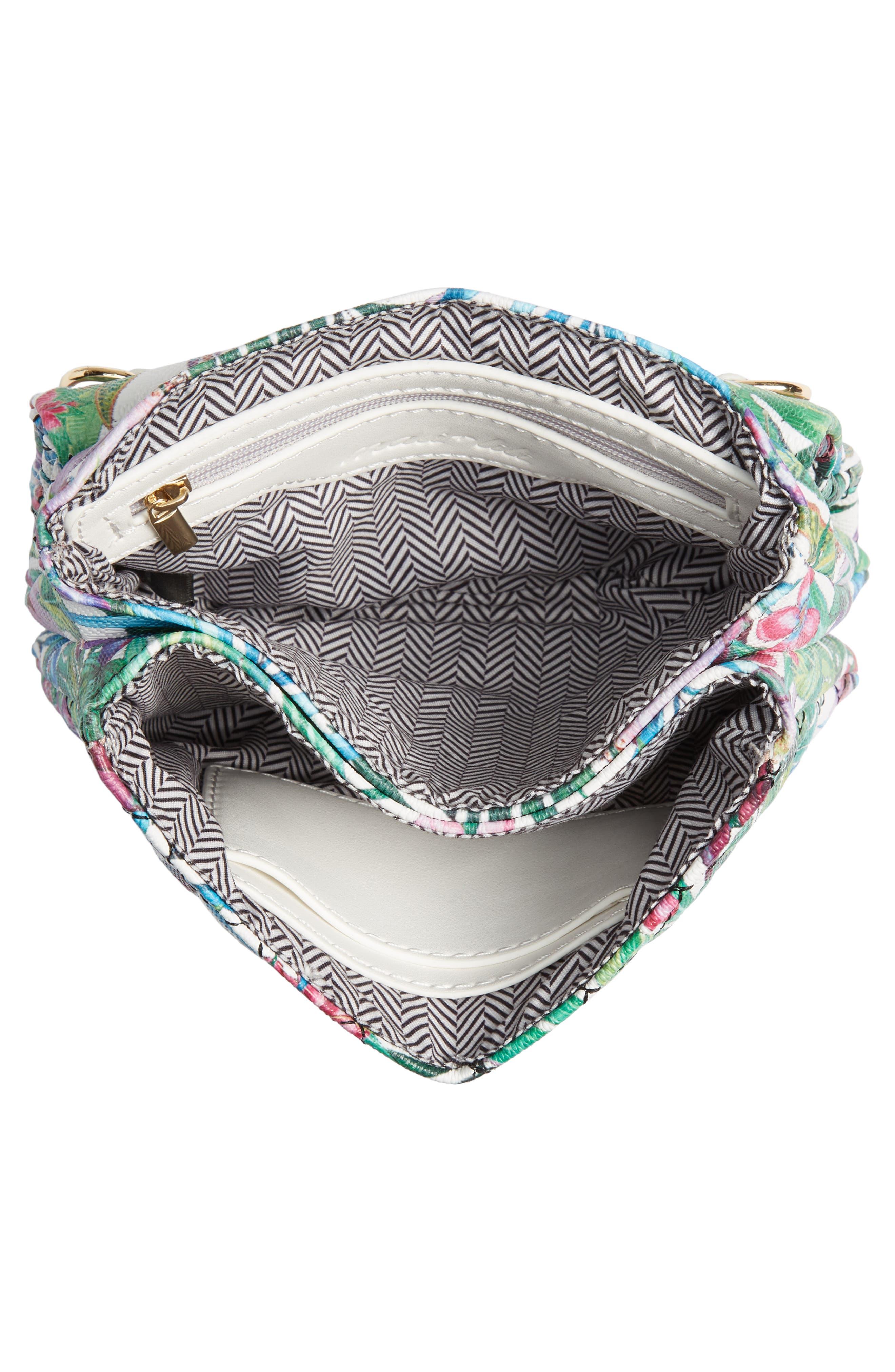 MALI + LILI,                             Quilted Vegan Leather Belt Bag,                             Alternate thumbnail 6, color,                             WHITE FLORAL