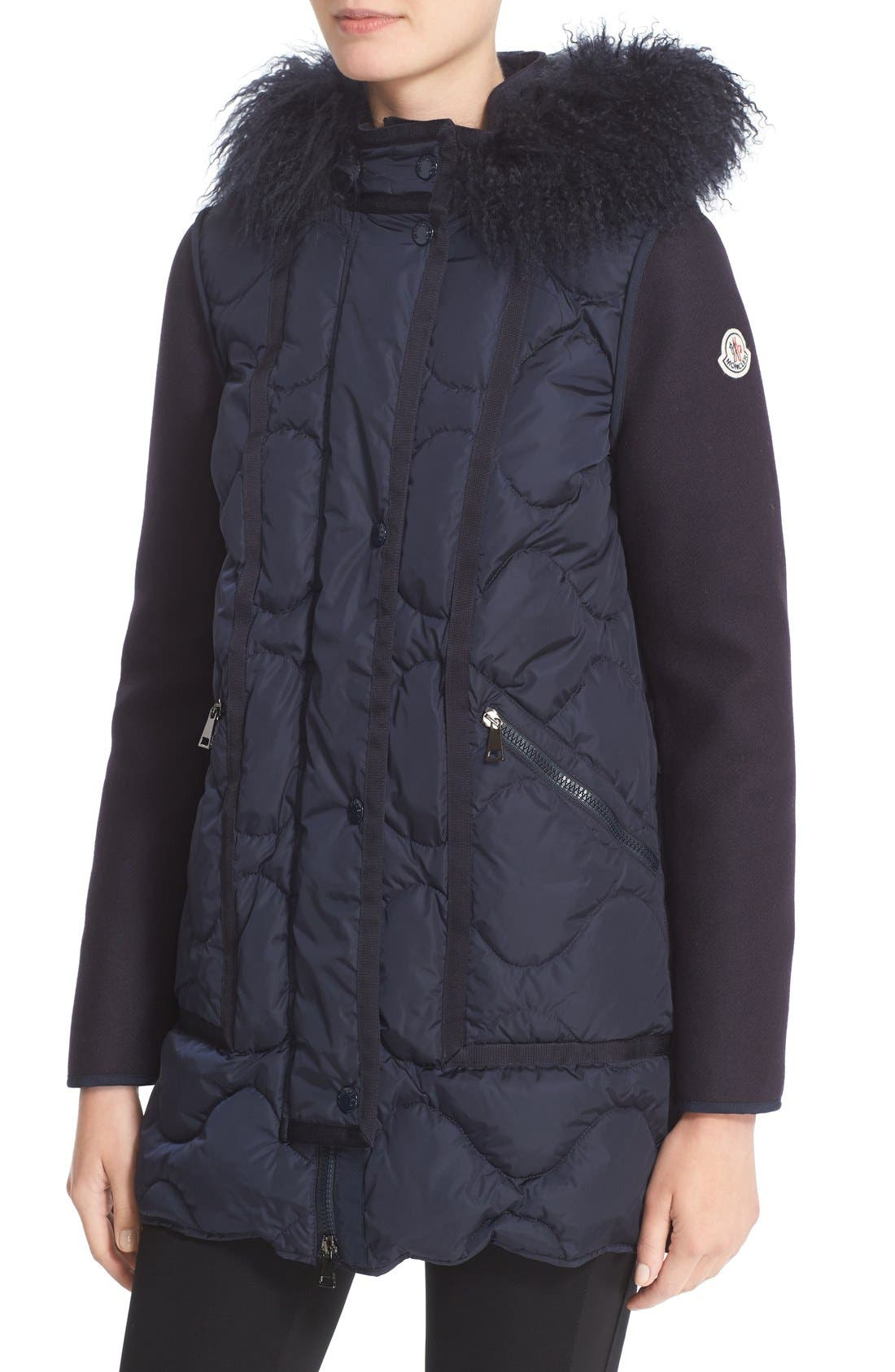 Theodora Water Resistant Hooded Jacket with Genuine Mongolian Fur Trim,                             Alternate thumbnail 6, color,                             419