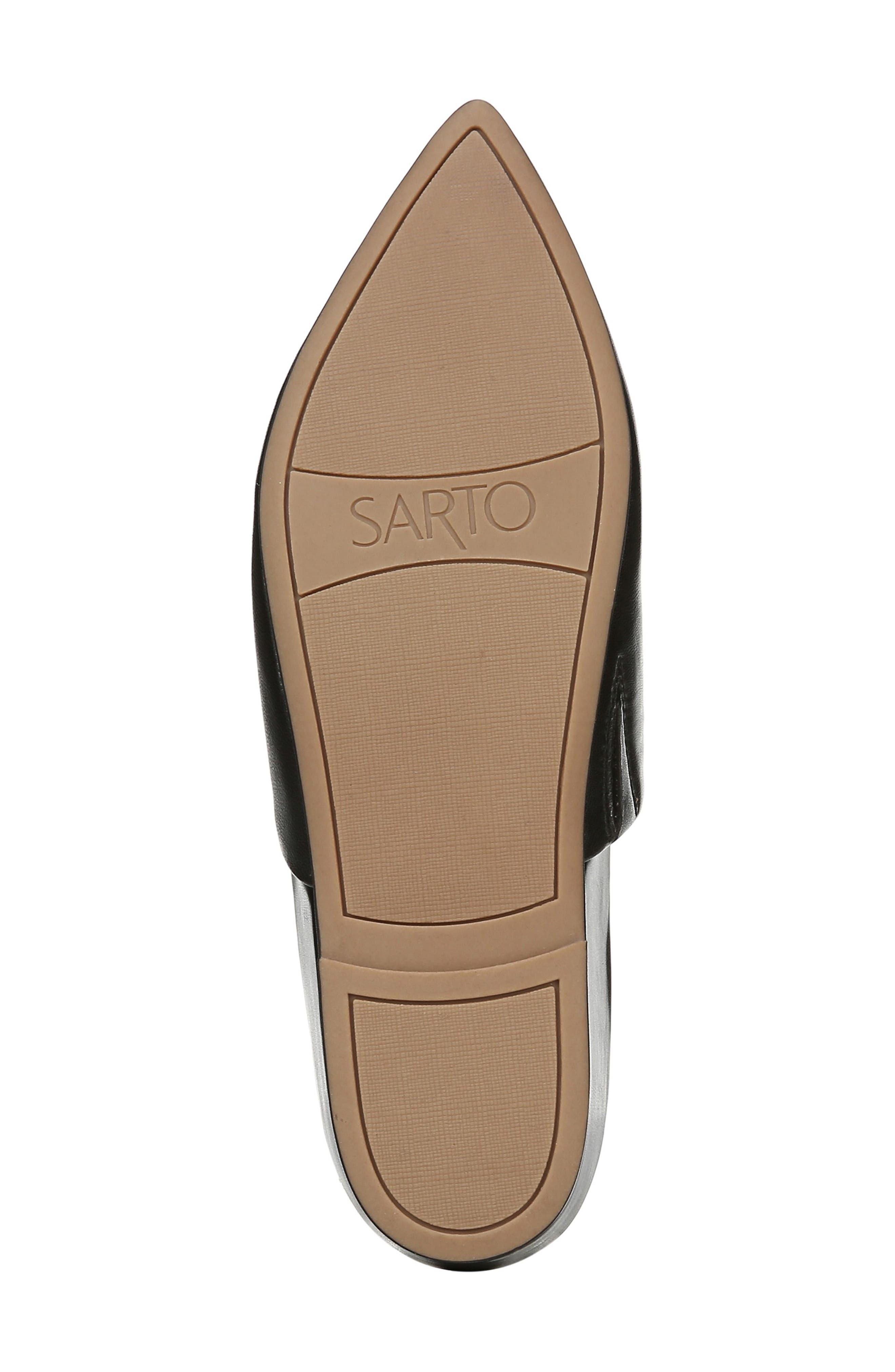 SARTO BY FRANCO SARTO,                             Irma Pointy Toe Mule,                             Alternate thumbnail 6, color,                             BLACK LEATHER