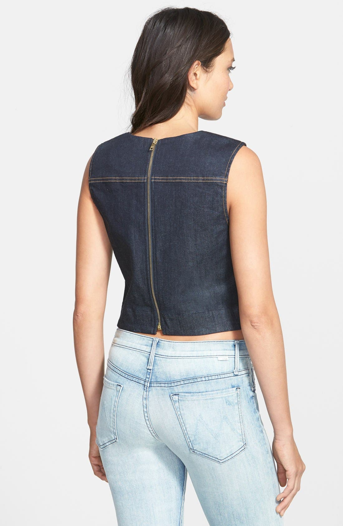 Denim Tank,                             Alternate thumbnail 2, color,                             400