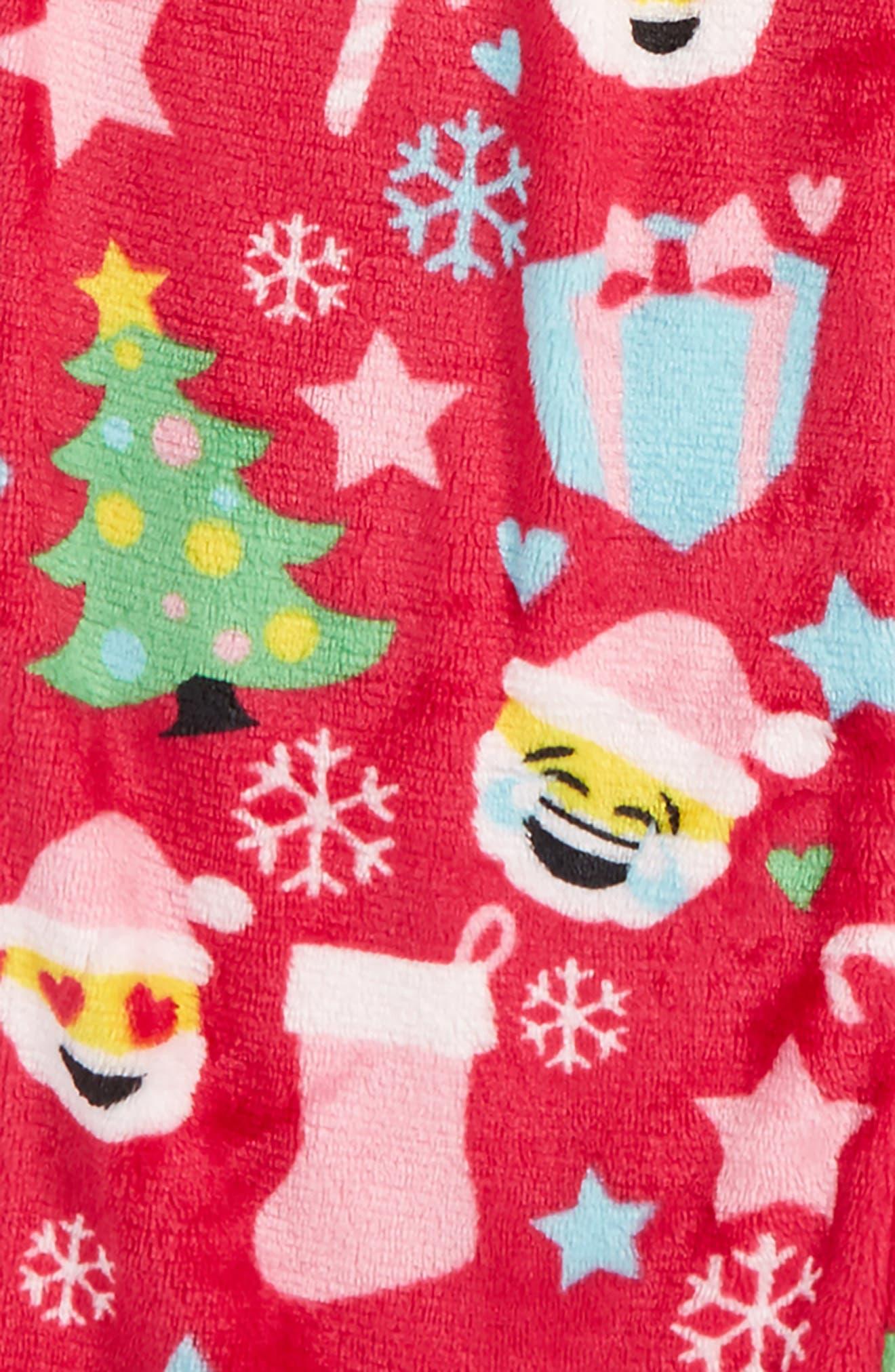 Christmas Emoji Print Pajama Pants,                             Alternate thumbnail 2, color,                             650
