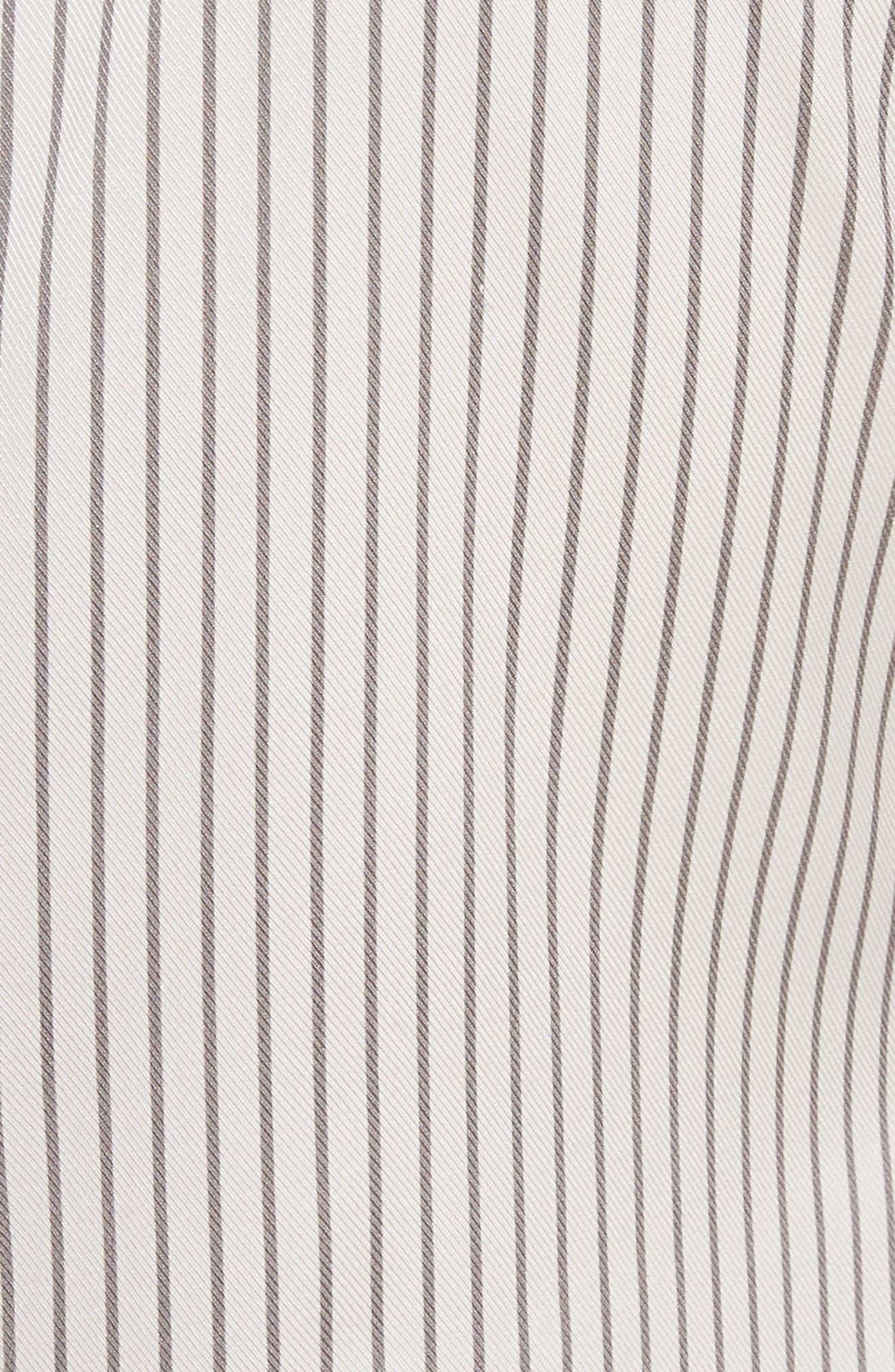 Vertical Stripe Stretch Silk Dress,                             Alternate thumbnail 5, color,                             270