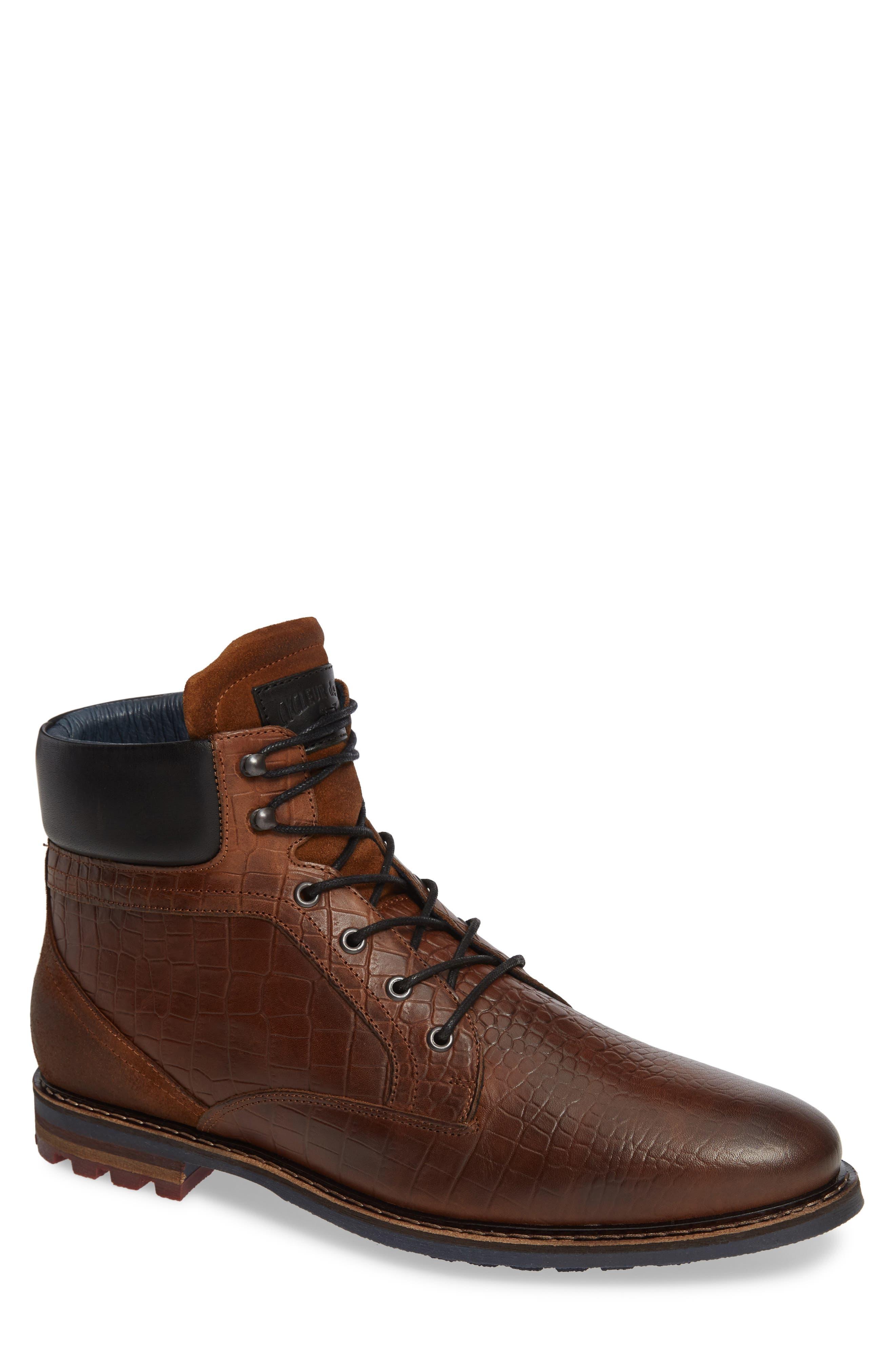 Trooper Plain Toe Boot,                         Main,                         color, DARK COGNAC