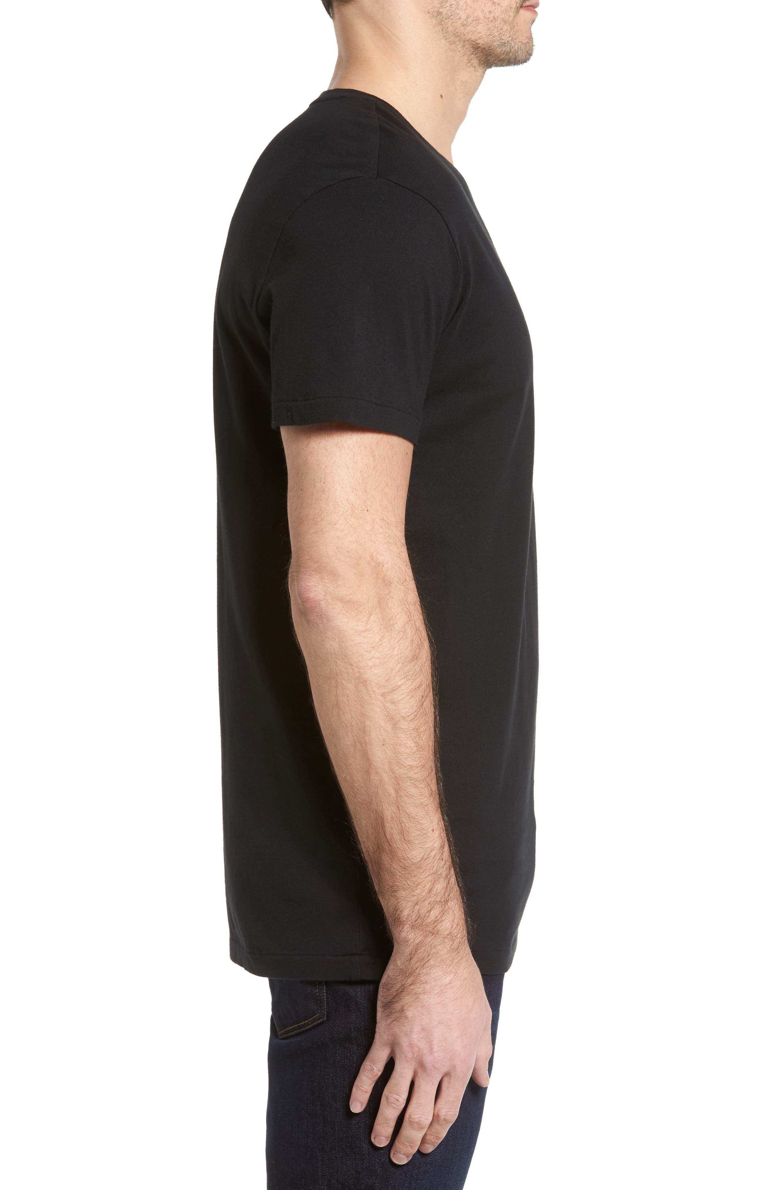 V-Neck T-Shirt,                             Alternate thumbnail 3, color,                             002