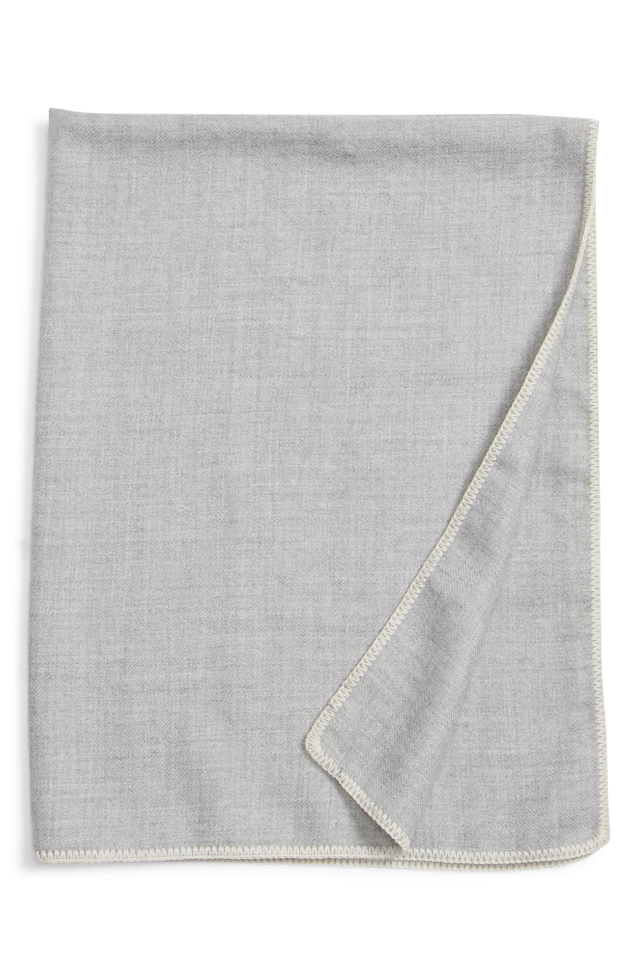JENNI KAYNE Baby Blanket, Main, color, GREY/ IVORY