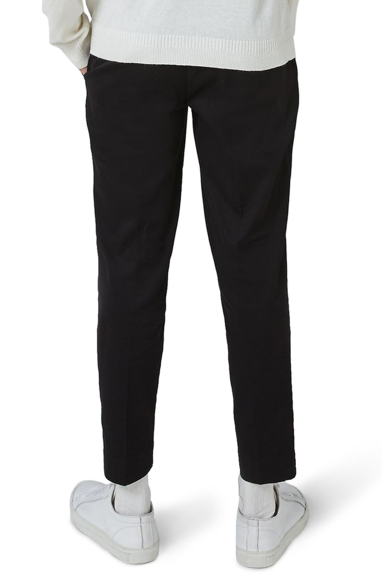 Twill Tapered Trousers,                             Alternate thumbnail 3, color,
