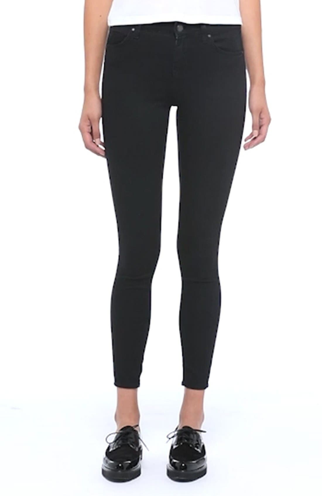 Moto 'Leigh' Mid Rise Skinny Jeans,                             Alternate thumbnail 2, color,                             001