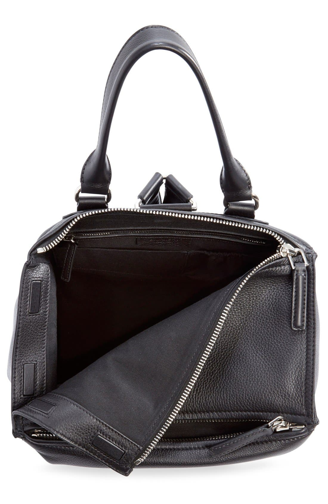 'Pandora' Waxy Leather Backpack,                             Alternate thumbnail 4, color,                             001