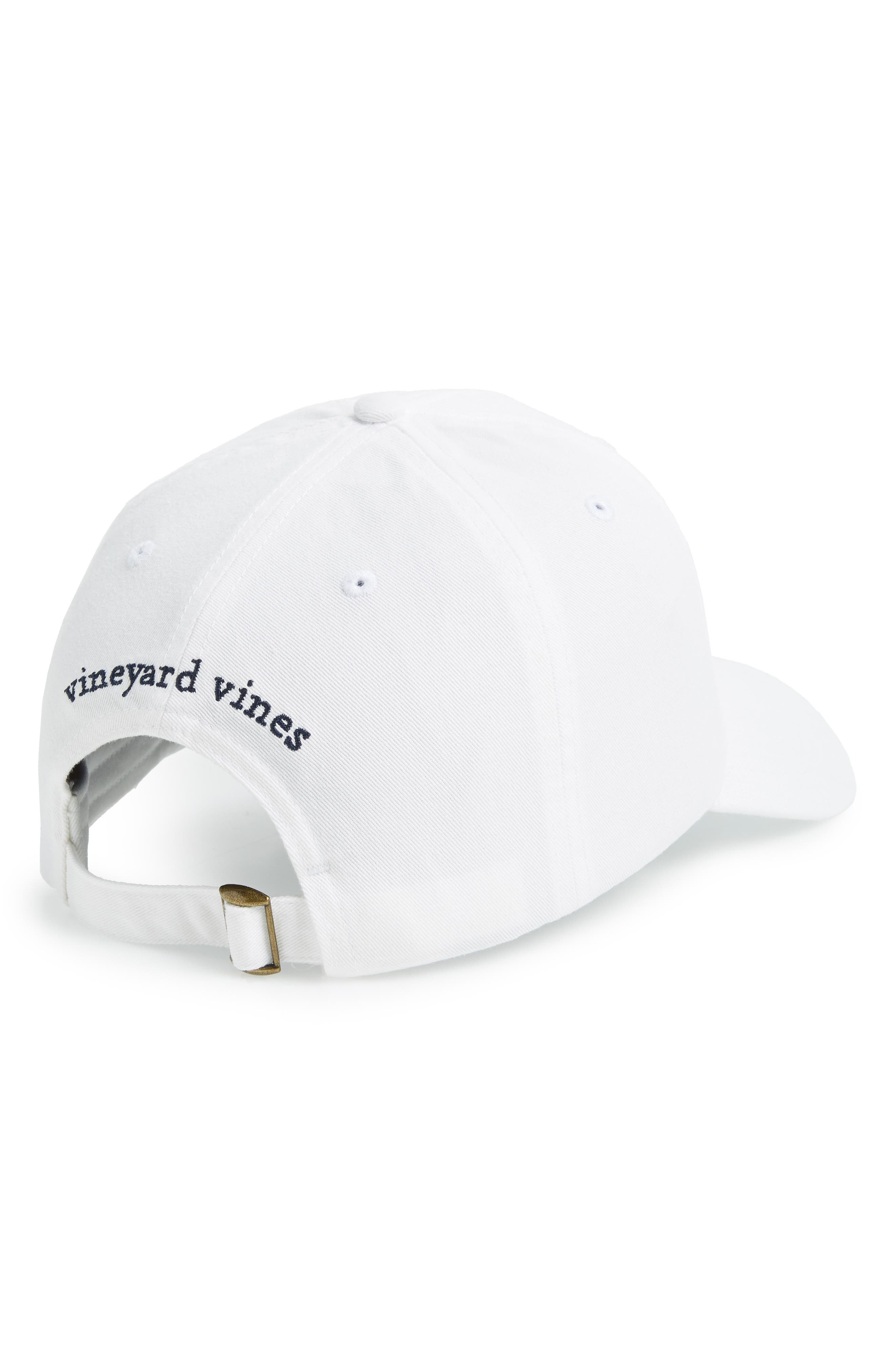 Embroidered Vineyard Flag Cap,                             Alternate thumbnail 2, color,                             WHITE CAP