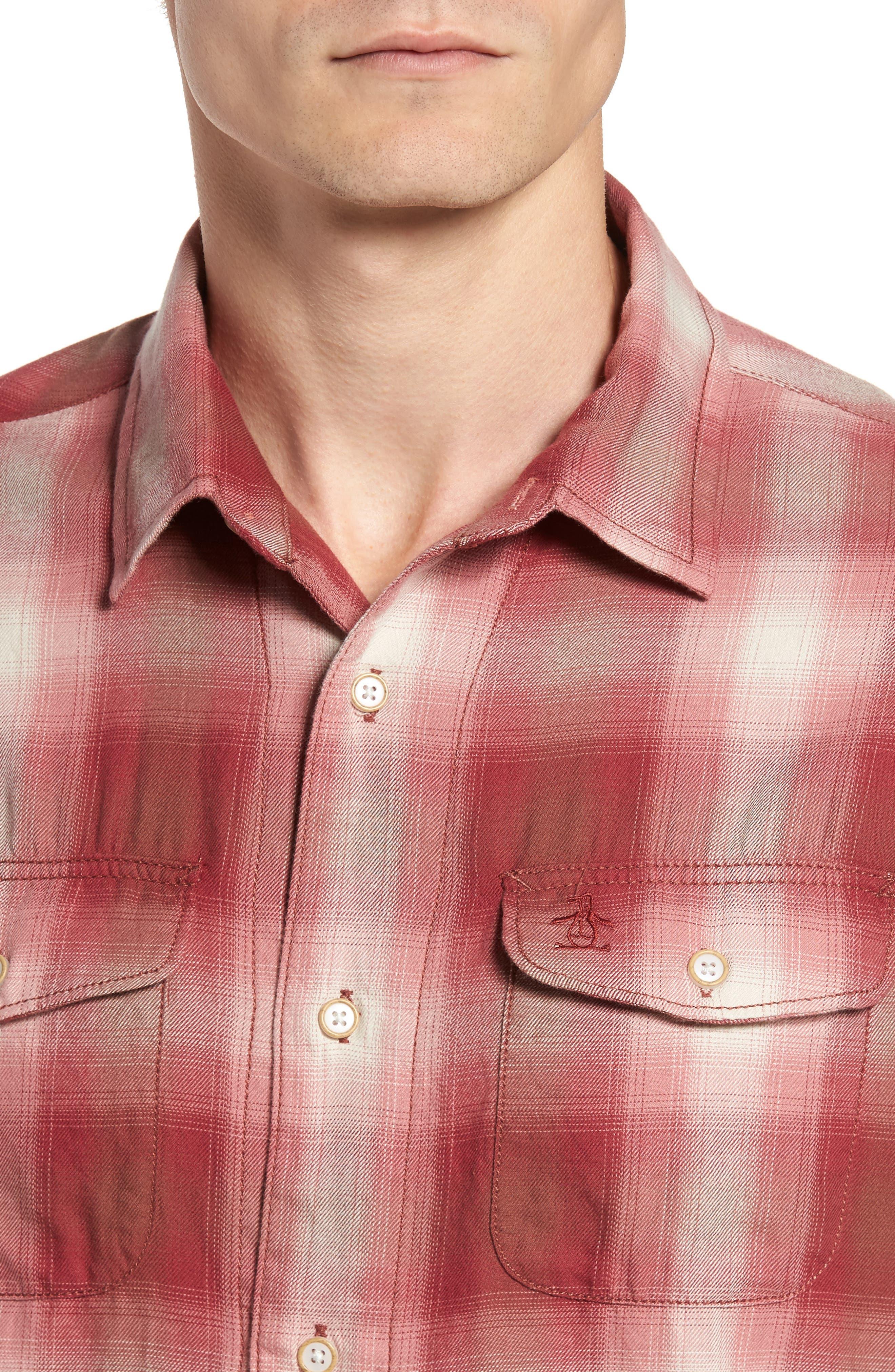 90s Plaid Flannel Shirt,                             Alternate thumbnail 4, color,                             643