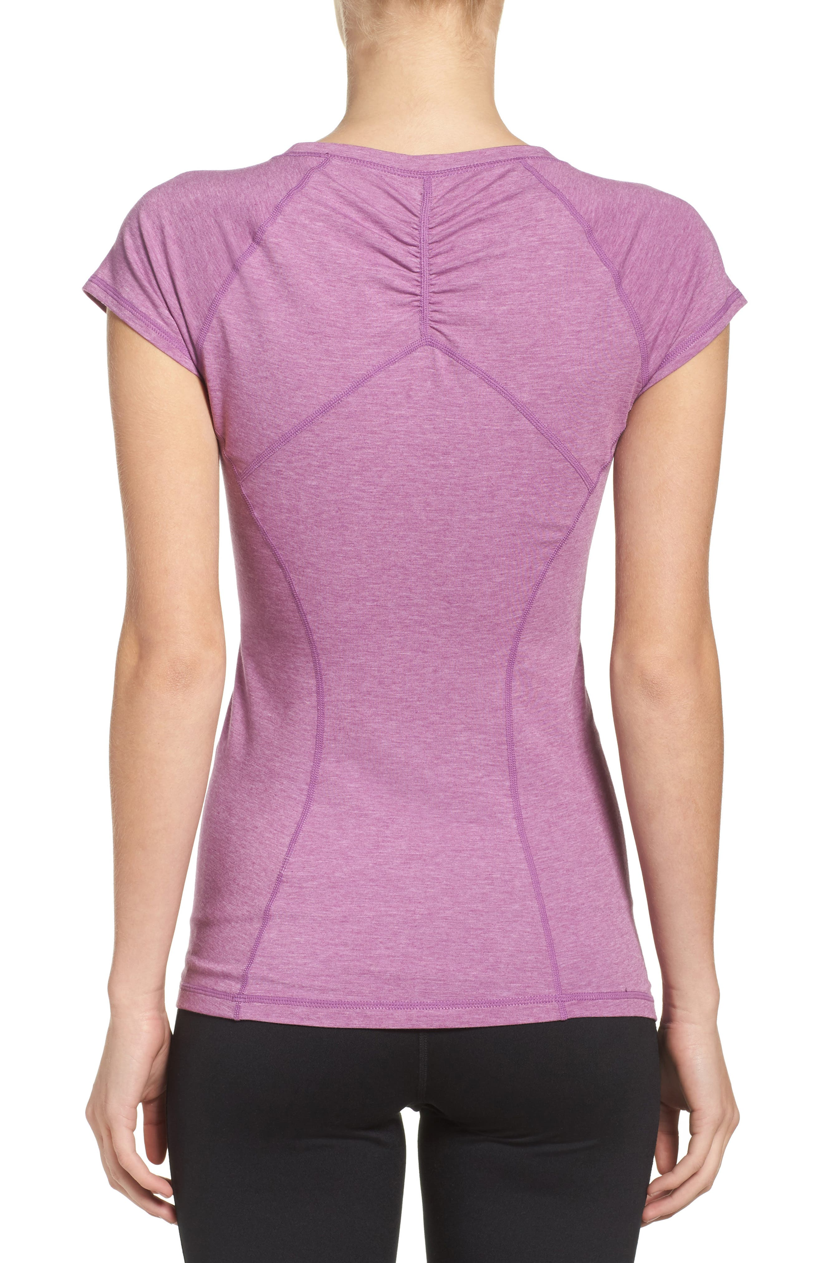 'Z 6' Ruched Tee,                             Alternate thumbnail 31, color,