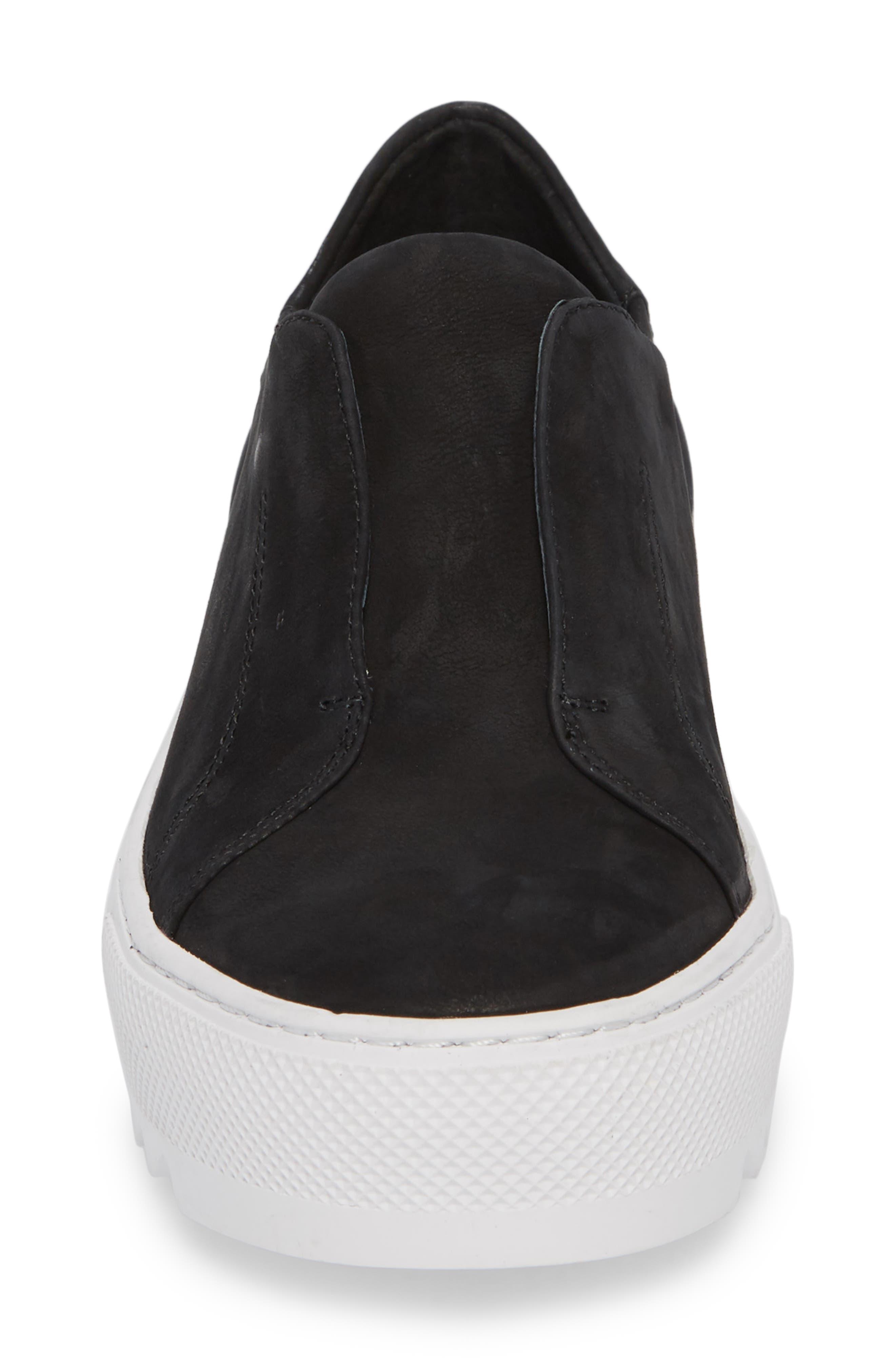 Spazo Slip-On Platform Sneaker,                             Alternate thumbnail 4, color,                             001